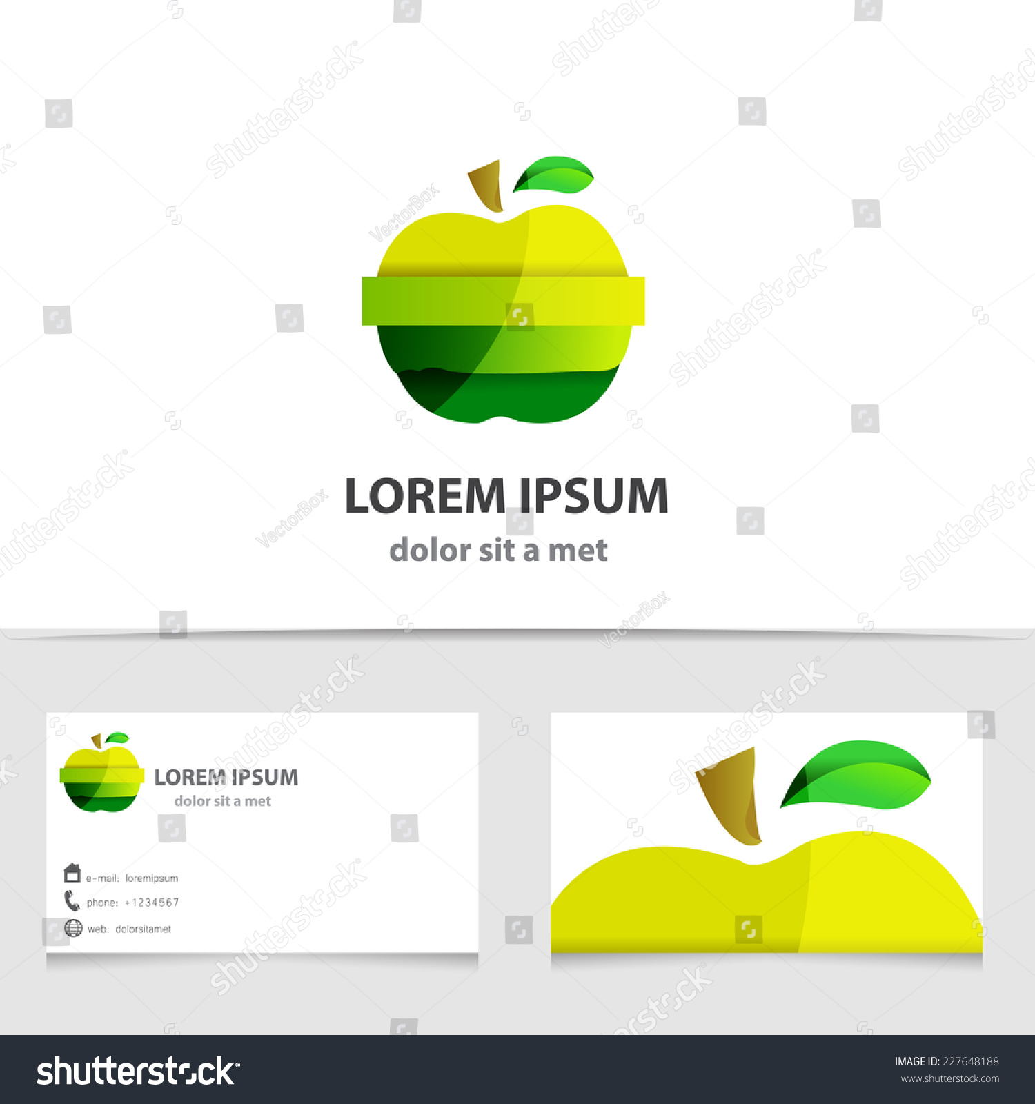 Vector Green Apple Logo Isolated Creative Stock Vector 227648188 ...