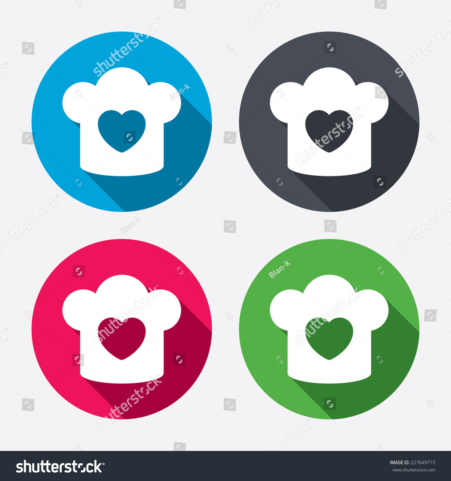 Chef hat sign icon cooking symbol stock vector 227649715 cooking symbol cooks hat with heart love circle buttons buycottarizona