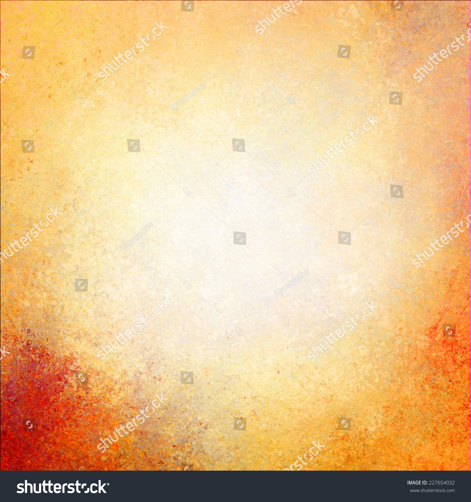 Warm Golden Wall Background Paint Yellow Stock