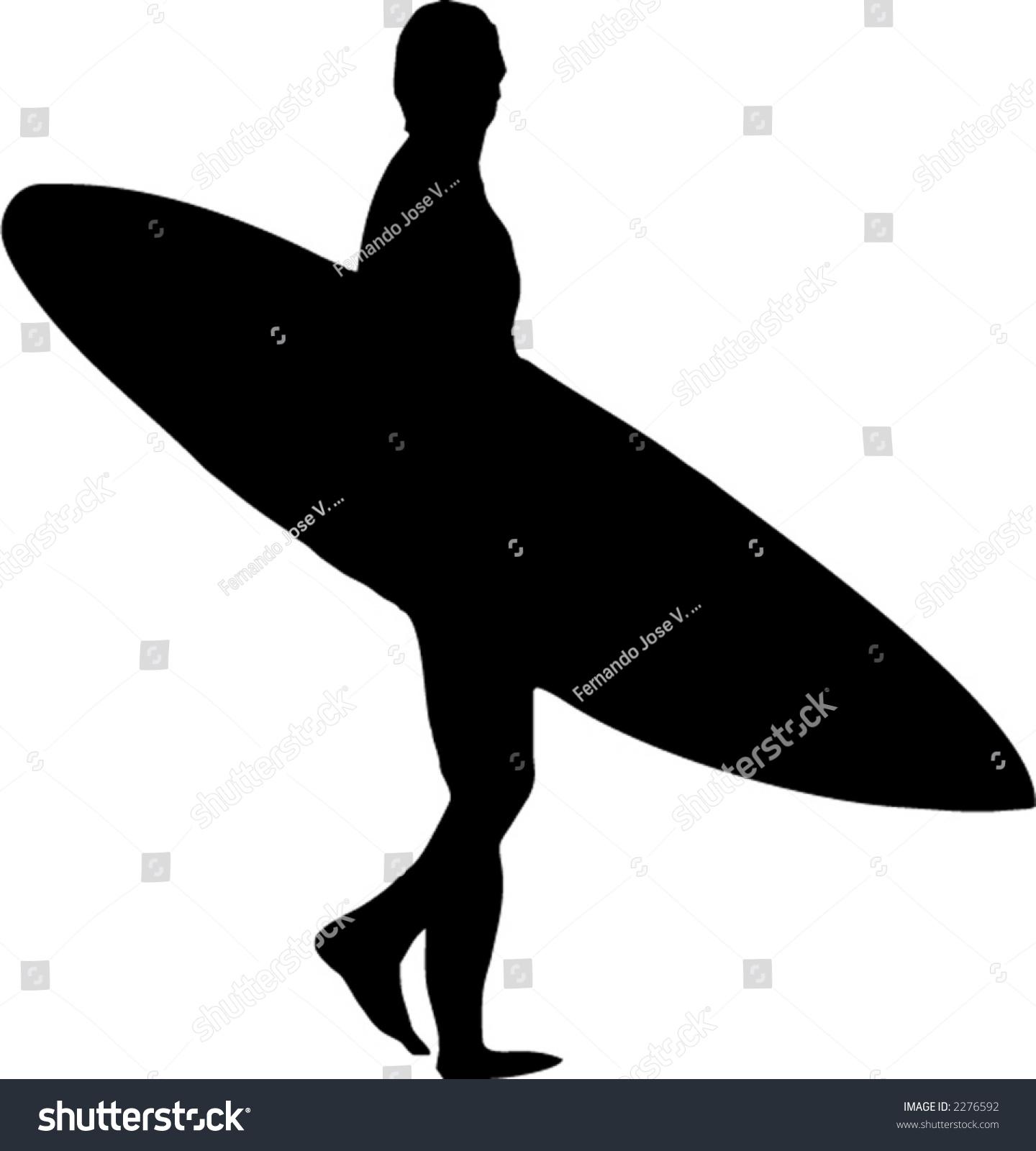 surfer silhouette stock vector 2276592 shutterstock