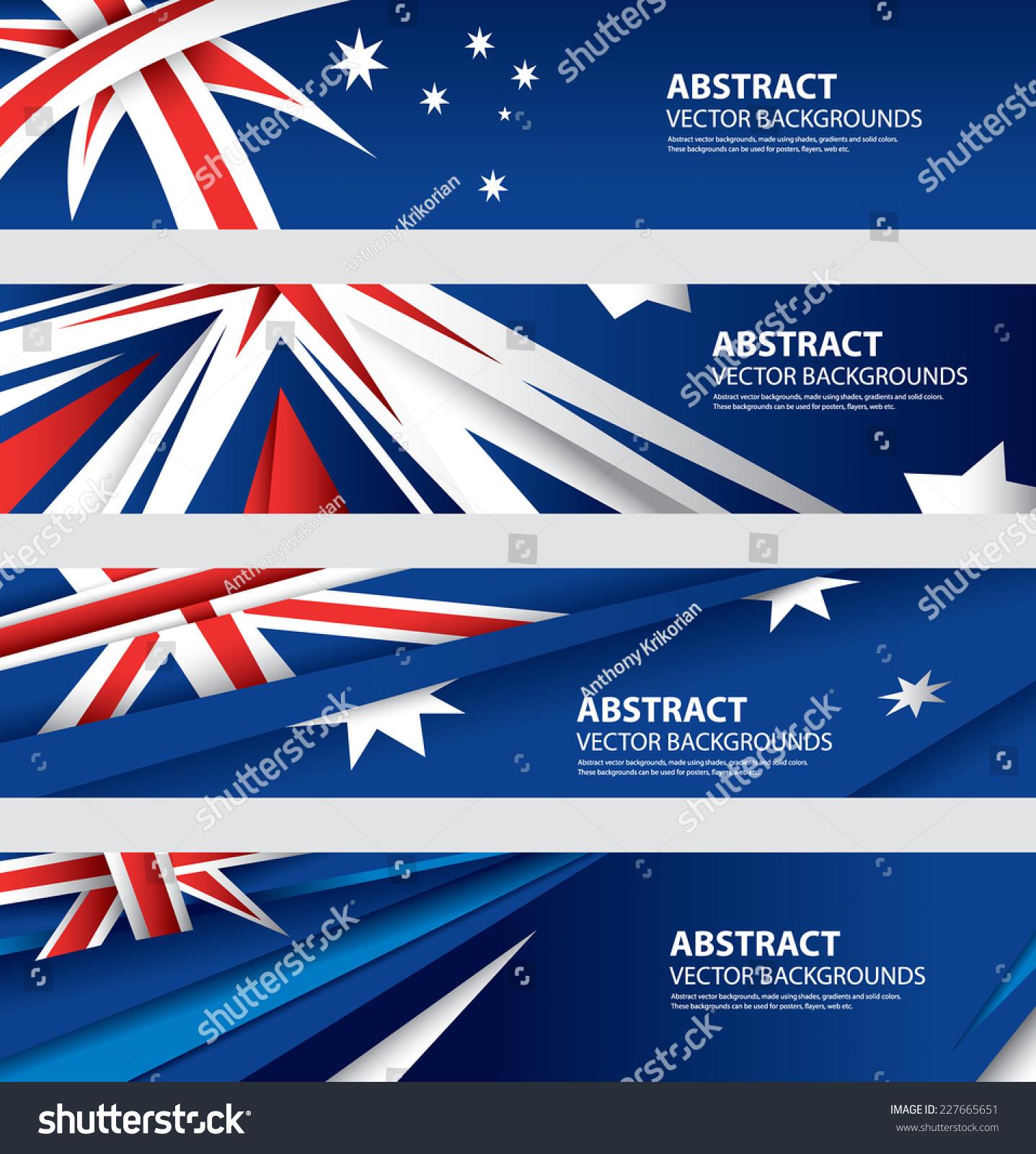 Abstract Australian Flag, Australia Colors , Abstract