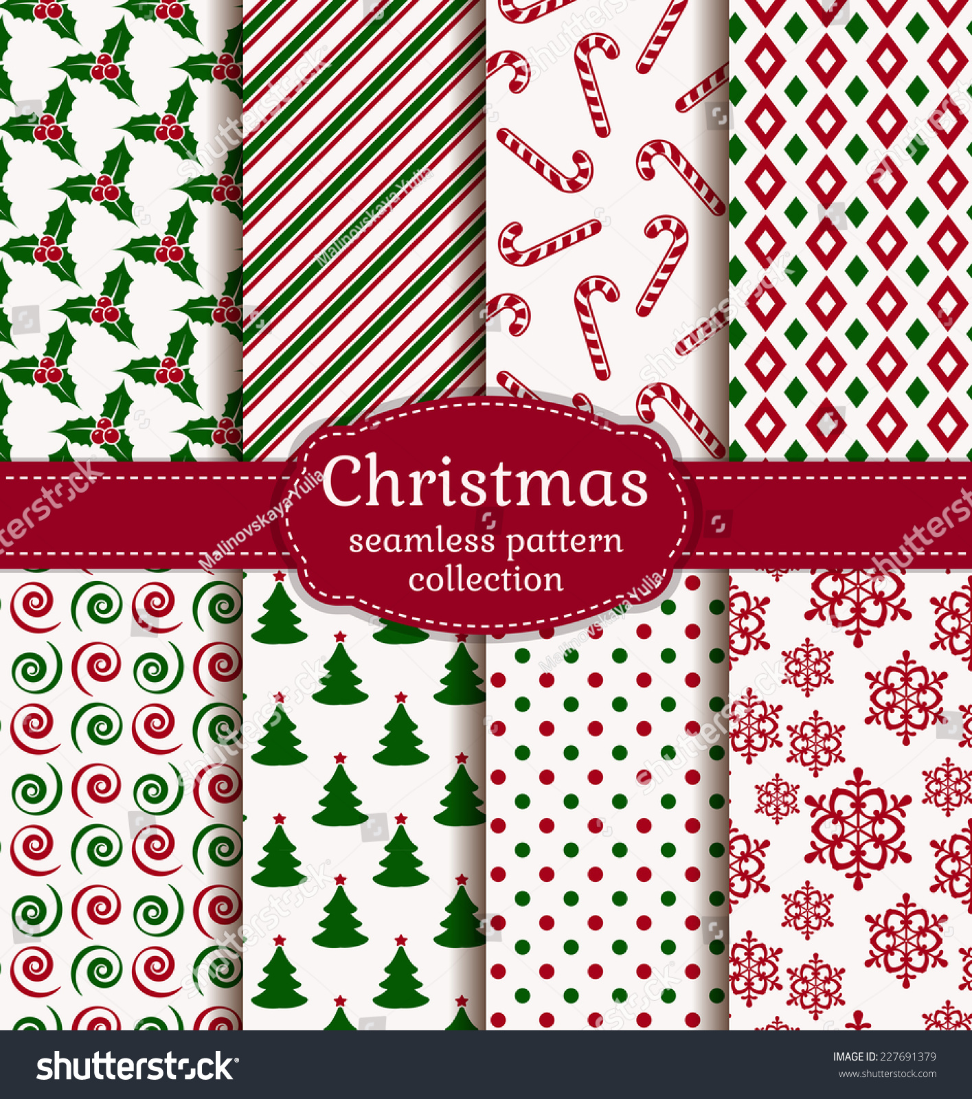 Pics photos merry christmas argyle twitter backgrounds - Merry Christmas And Happy New Year Set Of Holiday Backgrounds Collection Of Seamless Patterns