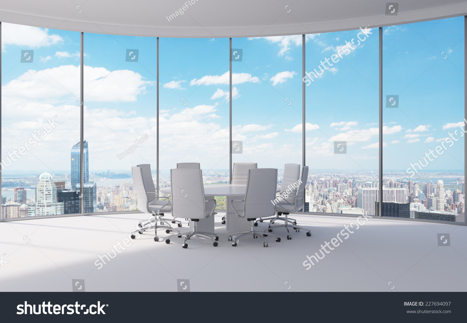 Conference Room Modern Office Windows City Stock Photo 227694097 ...