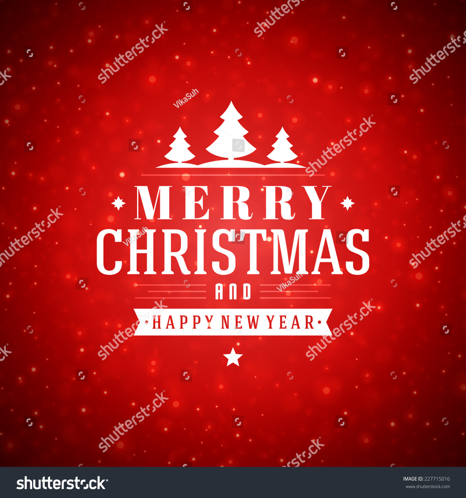 Christmas Red Light Vector Background Merry Stock Vector