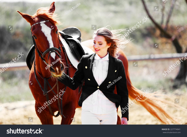 Beautiful Girl Horse O...