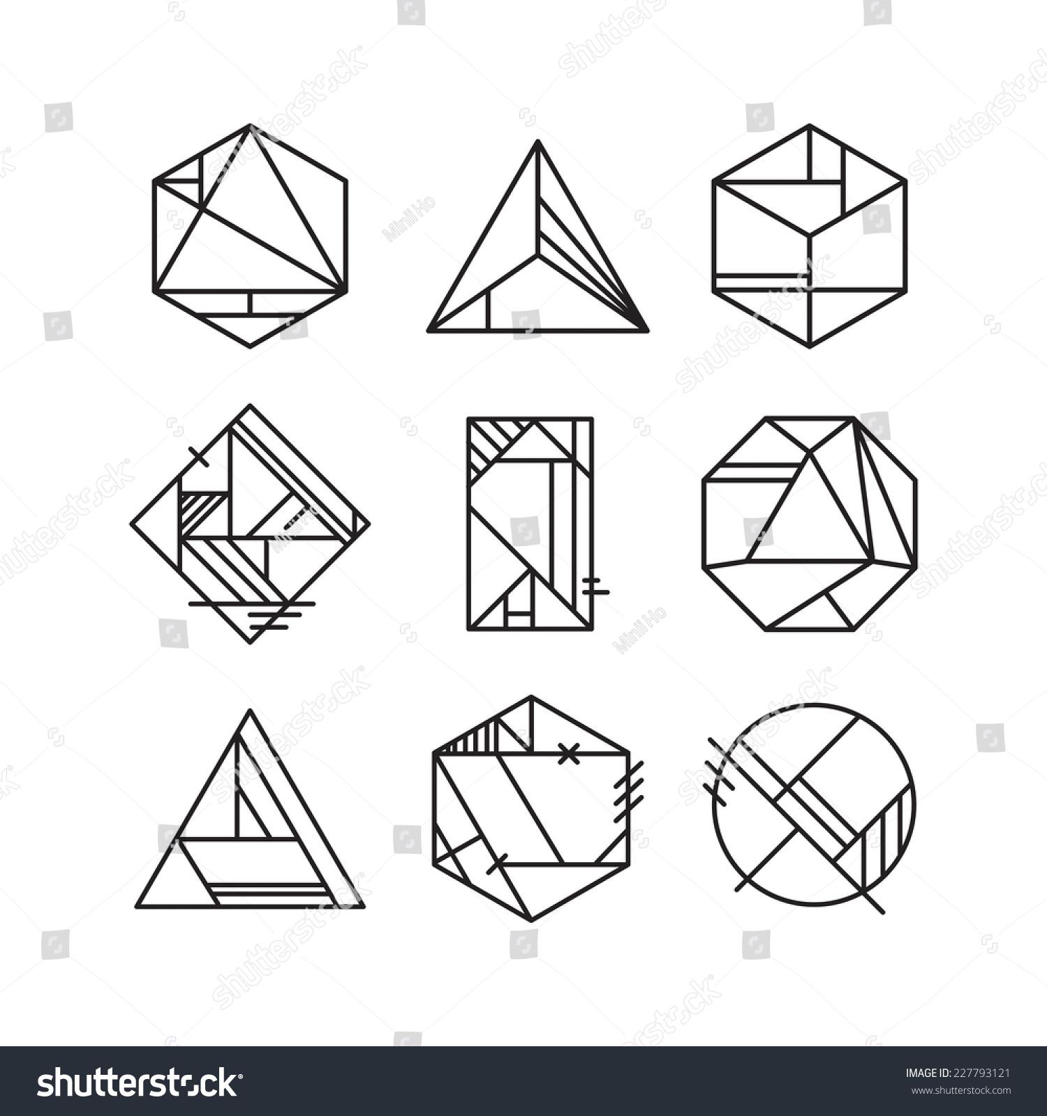 Abstract art deco design elements stock vector 227793121 for Element deco design
