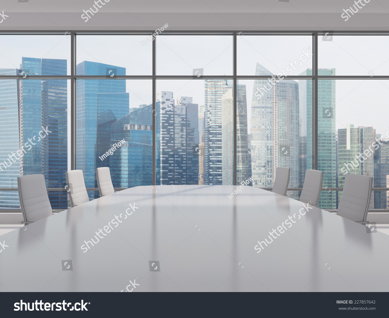 Conference Room Modern Office Windows City Stock Photo 227857642 ...