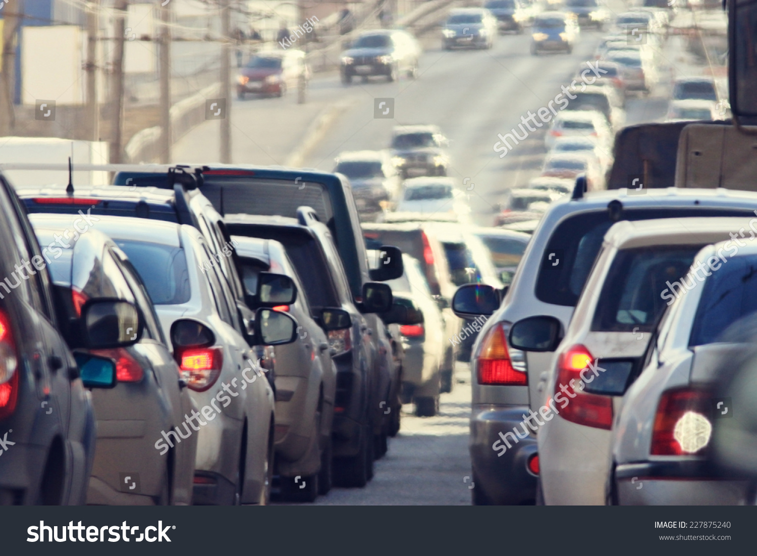 traffic jams in the city, road, rush hour #227875240