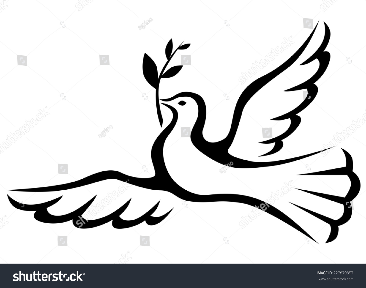 Royalty Free Stock Illustration Of Symbol Peace Dove Palm Branch