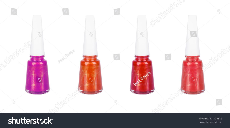 Nail Polish Bottle On White Background Stock Photo ...