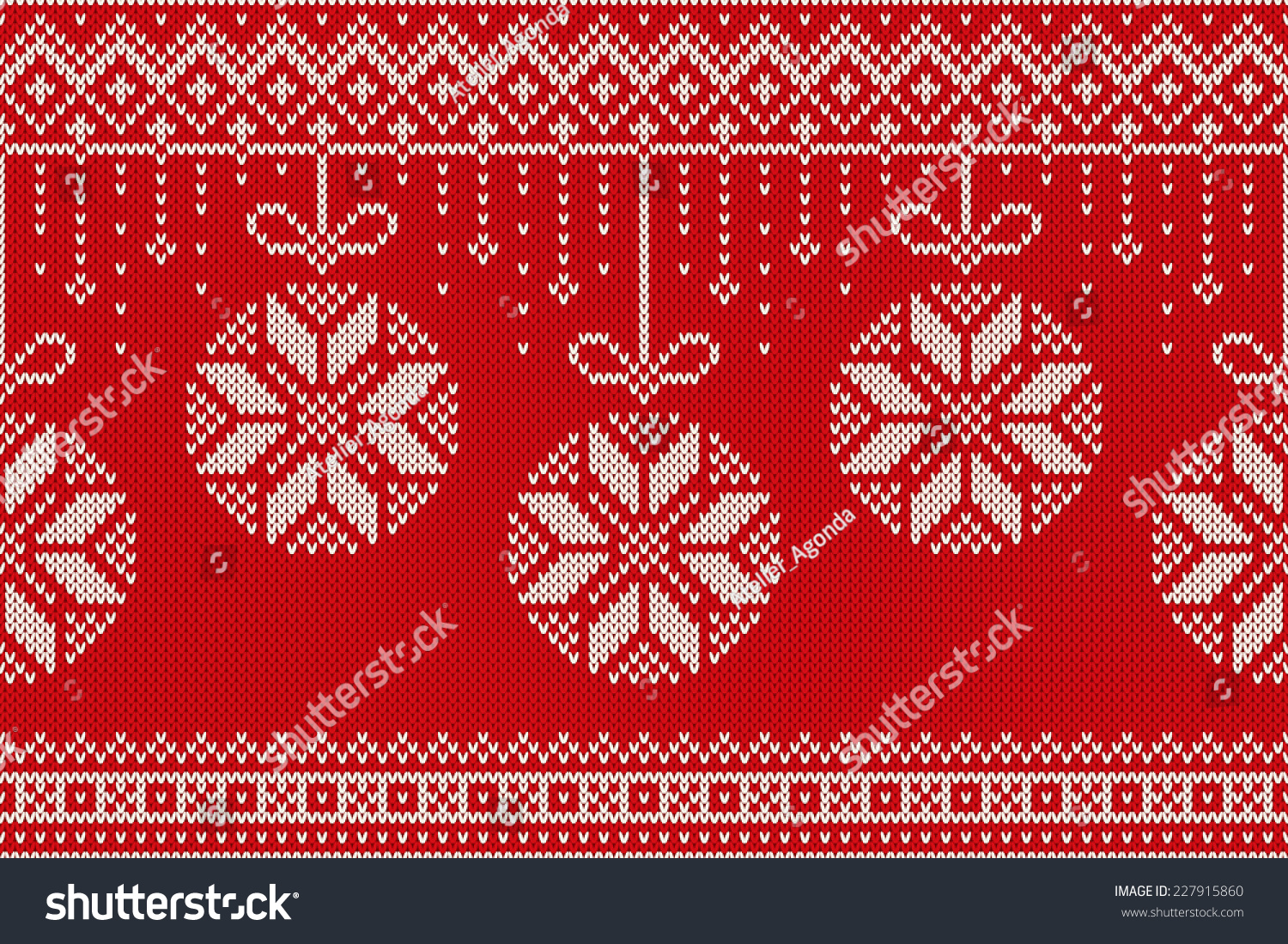Winter Holiday Seamless Knitting Pattern Christmas Stock Vector 227915860 - S...