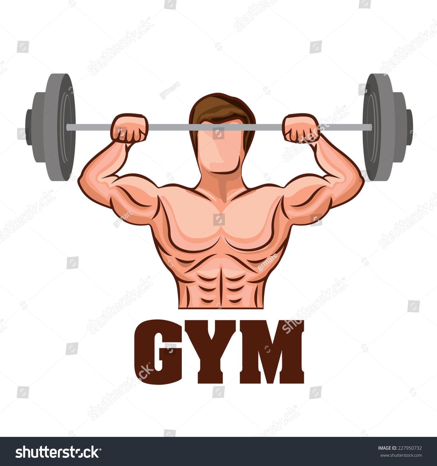 Fitness Design Over White Background Vector Stock Vector 227950732 ... for Physical Fitness Design  10lpwja