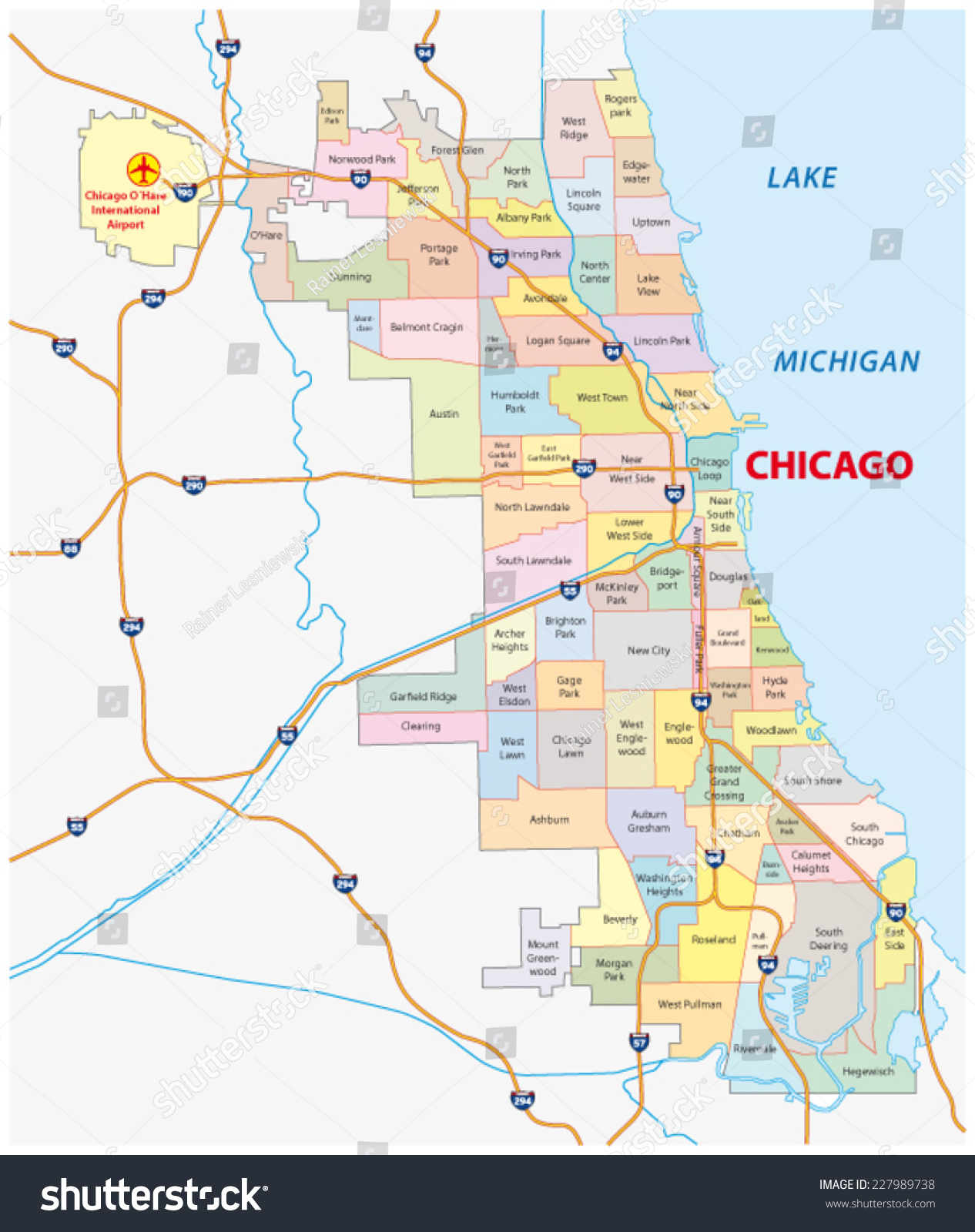 Map Of Chicago You Can See A Map Of Many Places On The List On - Chicago map northwest suburbs