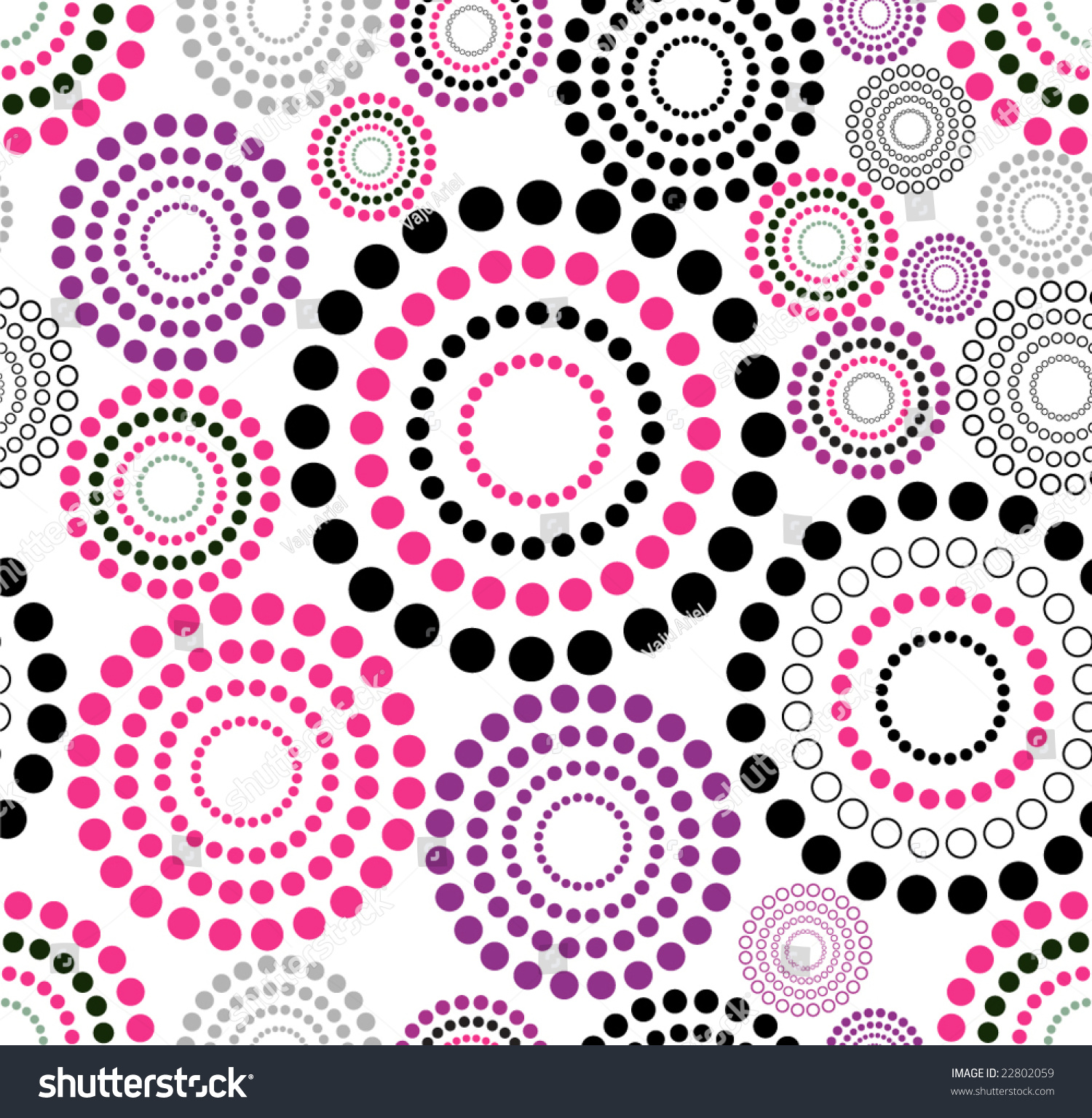 Vector Retro Black Pink Dark Pink Stock Vector 22802059 ...