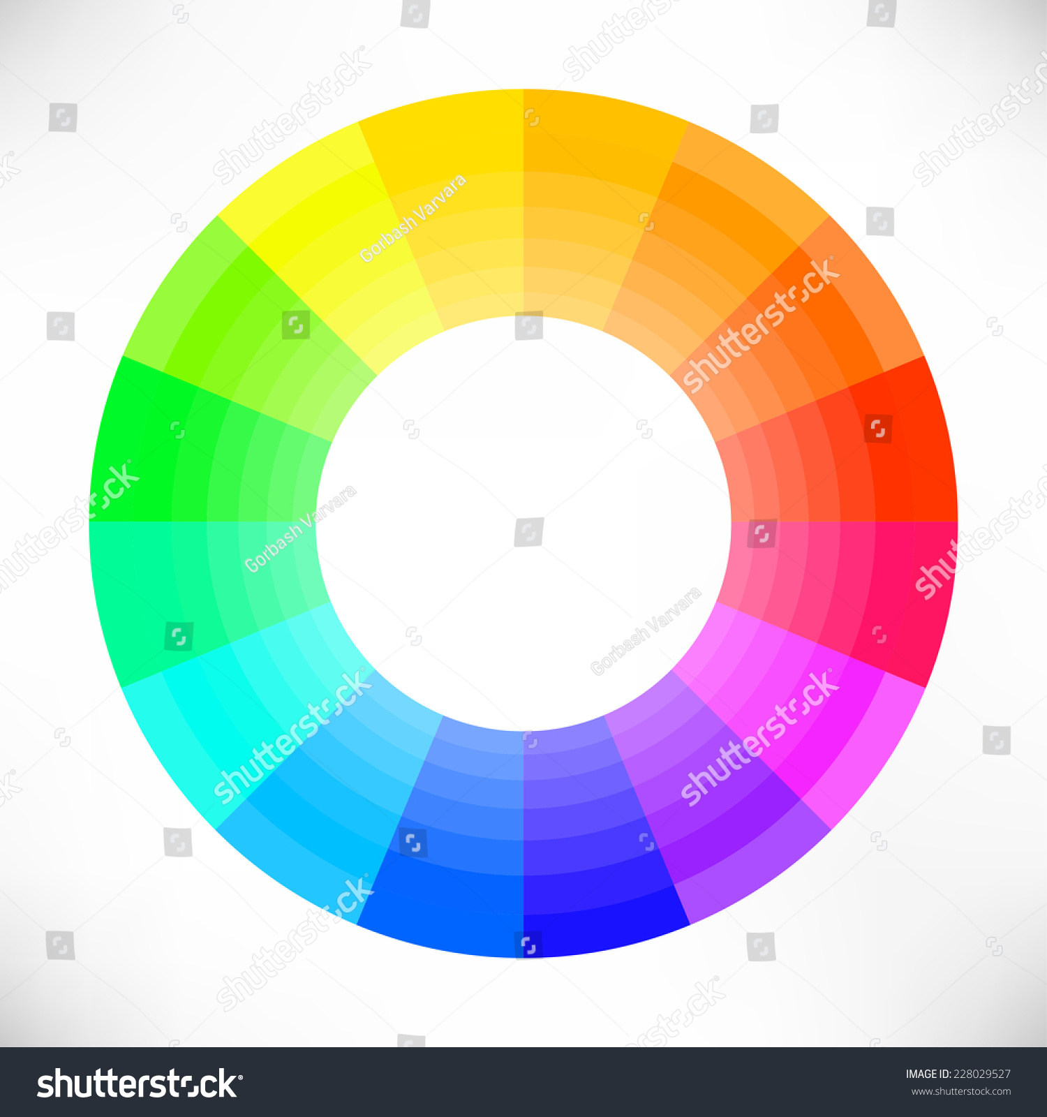 Color Wheel Vector Illustration Stock Vector Royalty Free