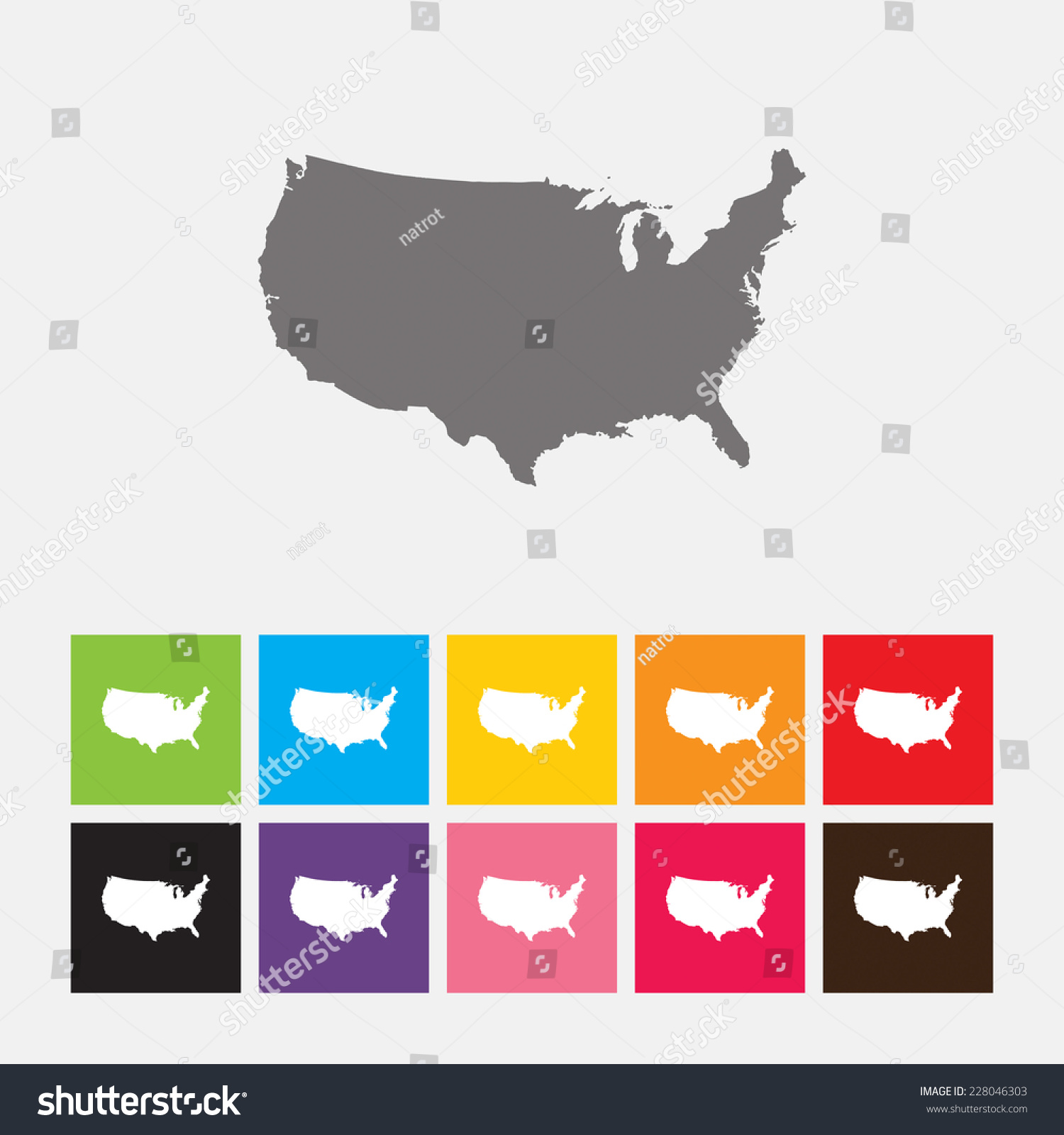 Map United States Icon Vector Stock Vector Shutterstock - Us map icon