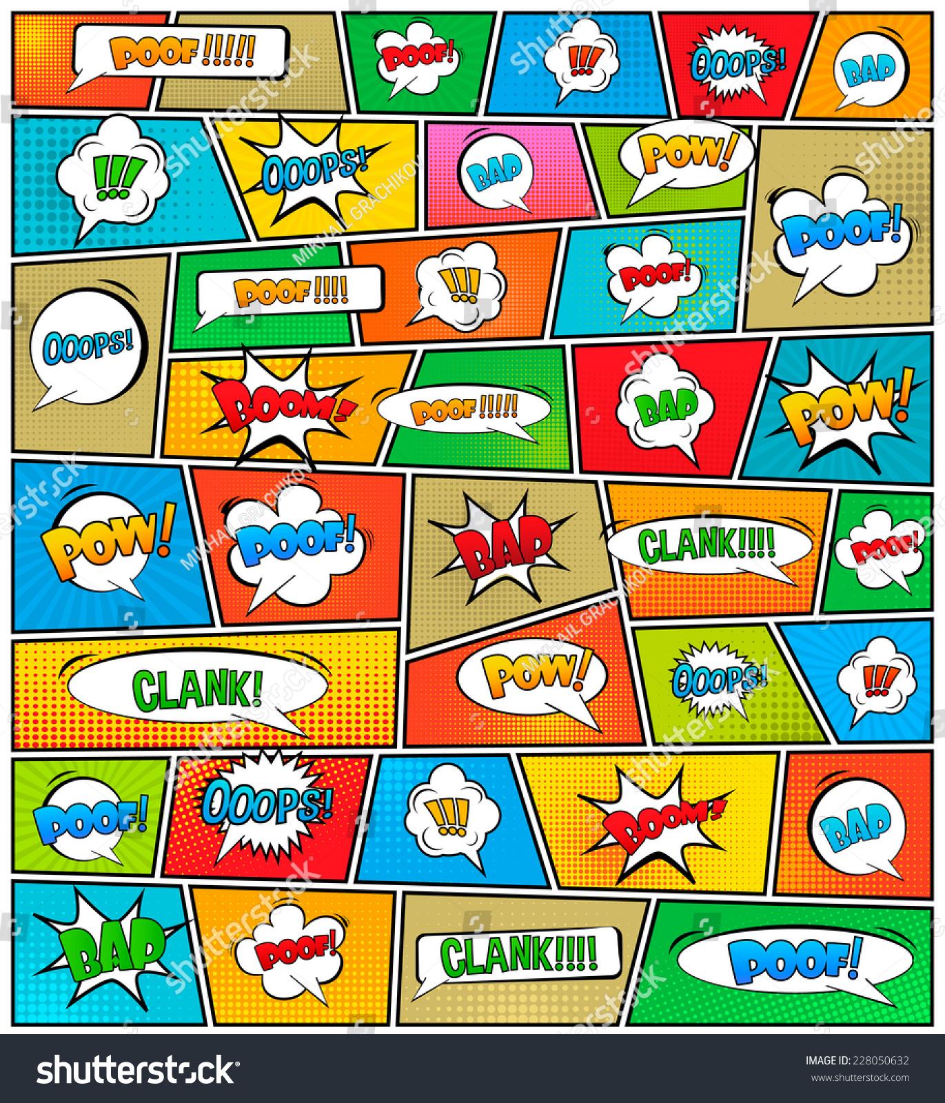 Abstract Creative Concept Vector Comics Pop Stock Vector 228050632 ...