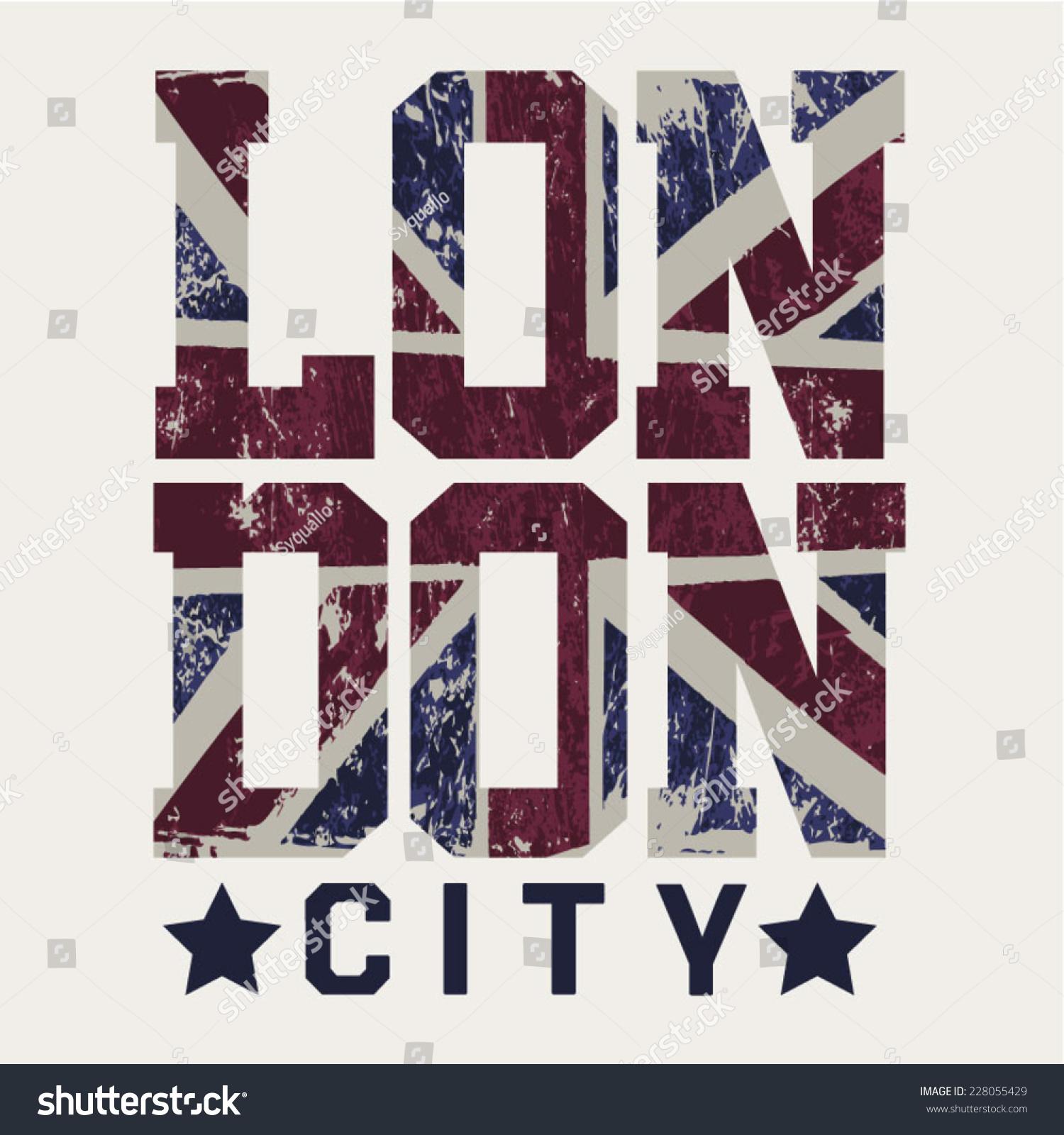 Shirt design london - Vintage London City Typography T Shirt Graphics Vectors
