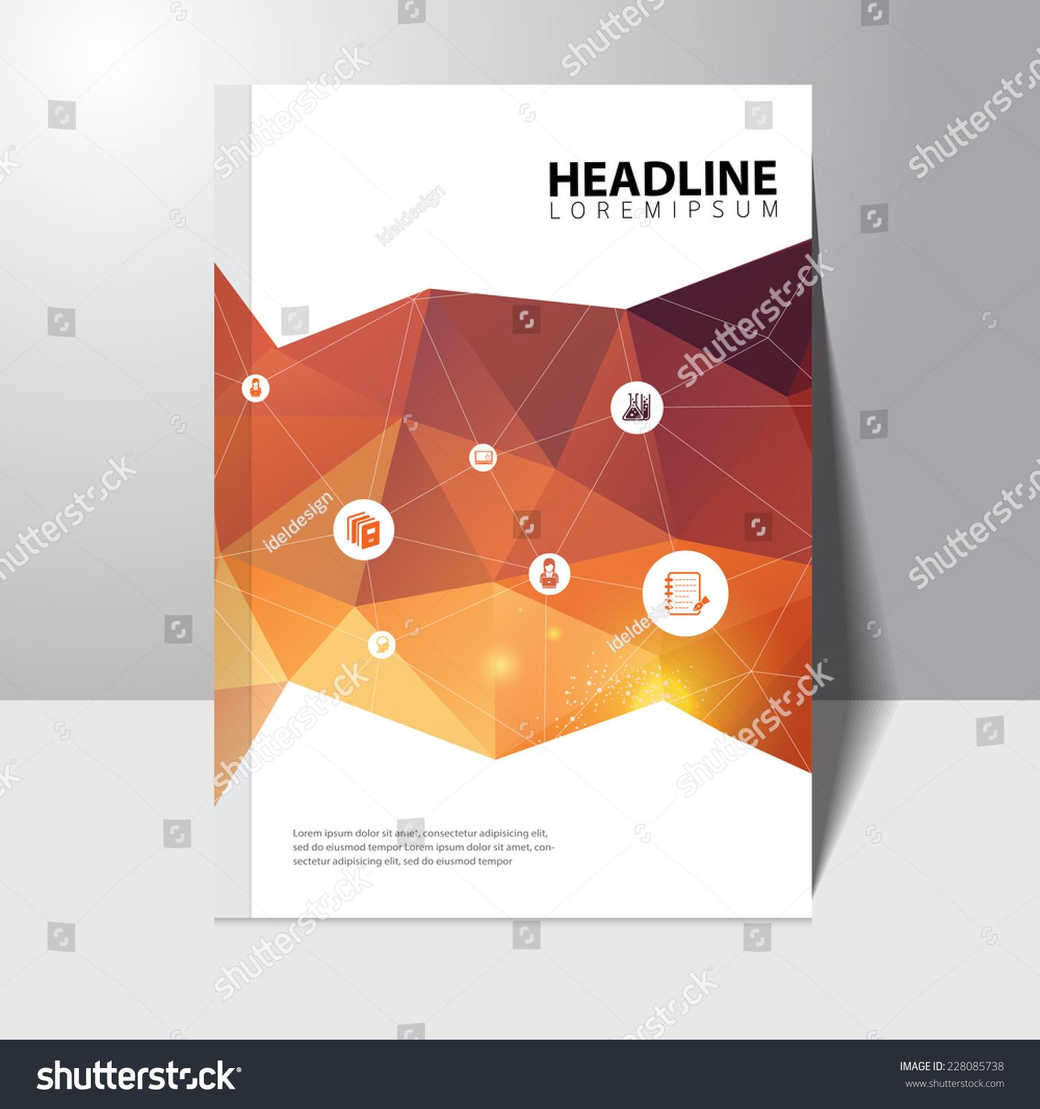Book Cover Design Education ~ Vector education book cover design template stock