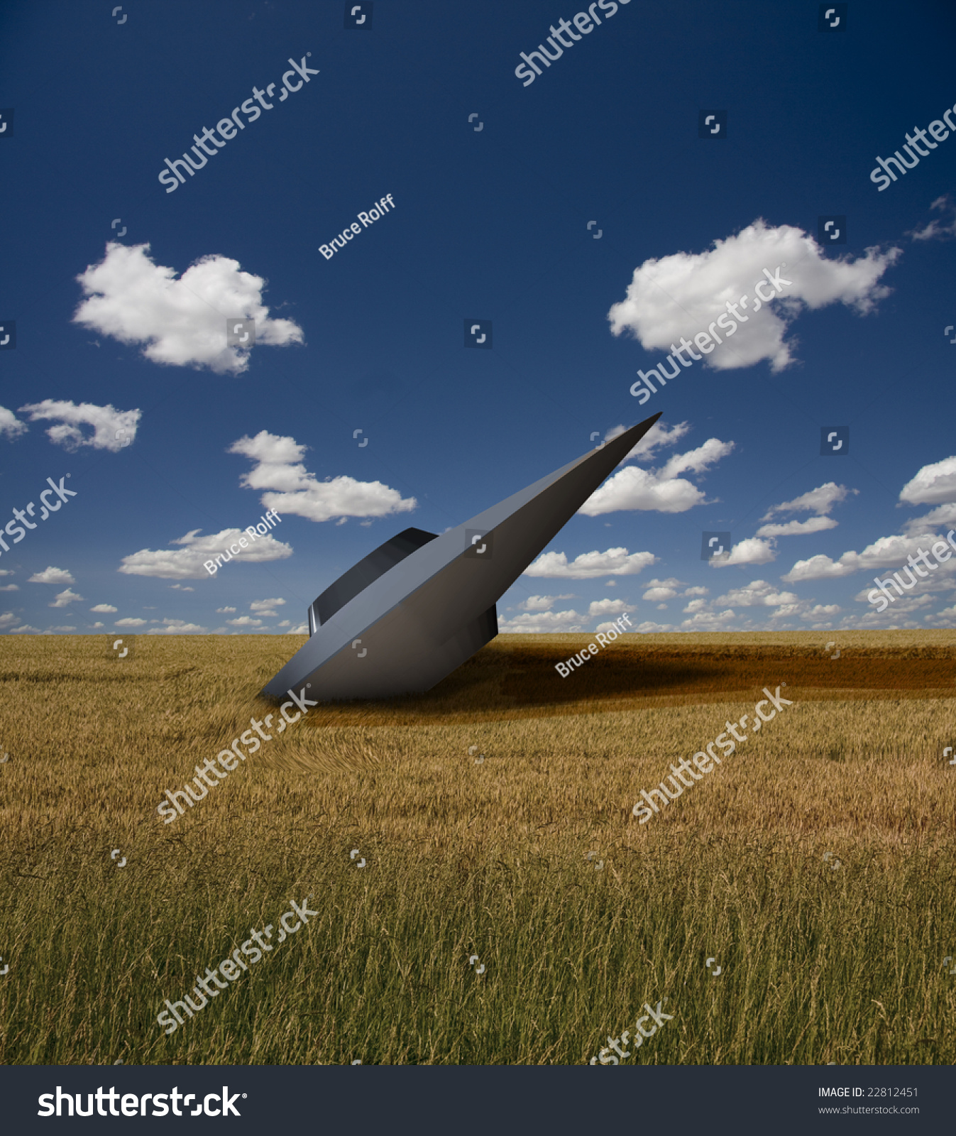 Ufo Crash Stock Photo 22812451 : Shutterstock