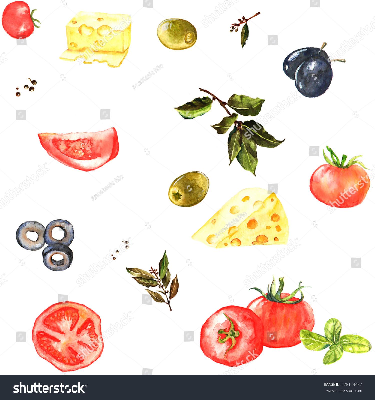 Stock Vector Seamless Watercolor