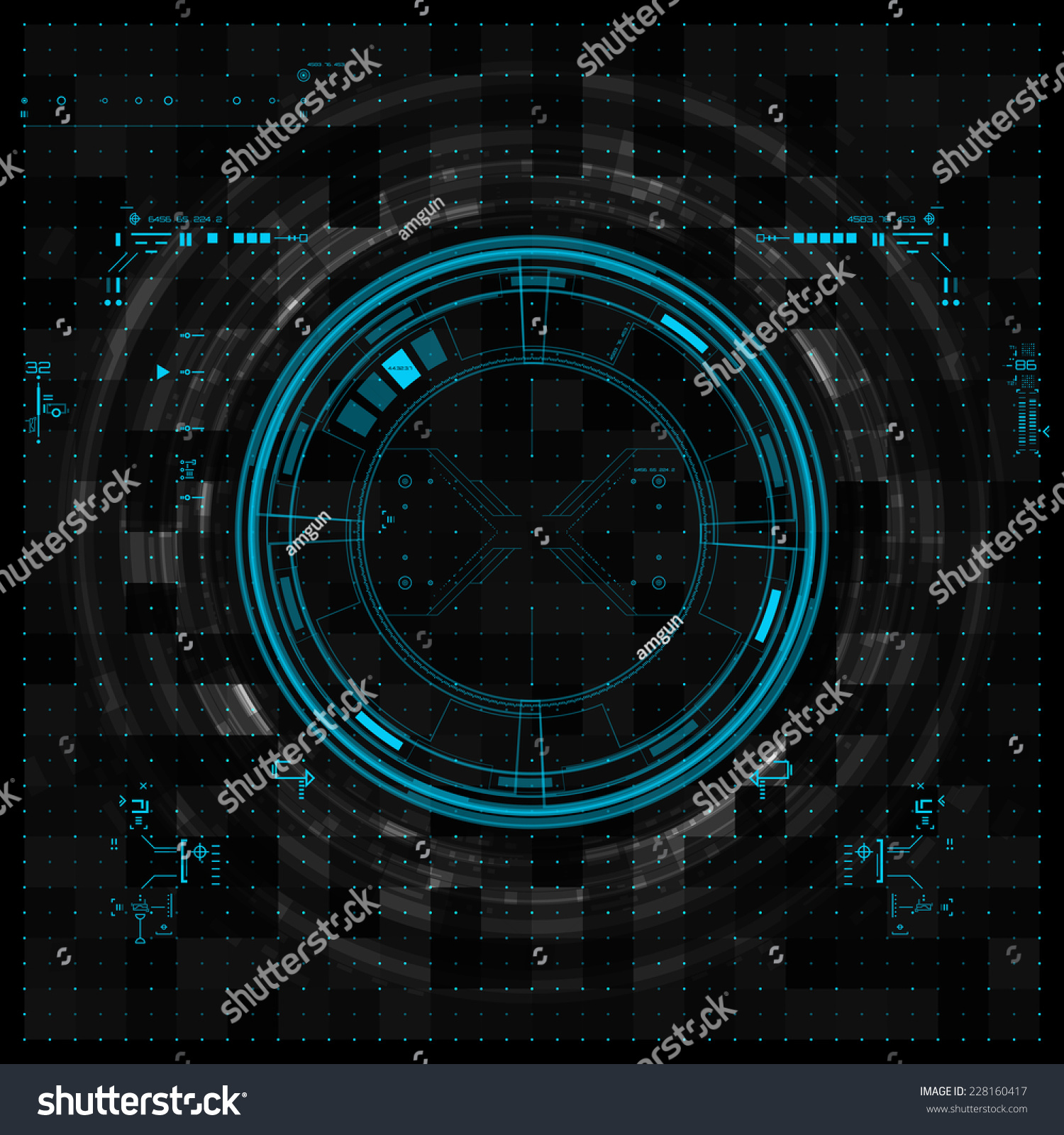 Futuristic Graphic User Interface Stock Vector 228160417 ...