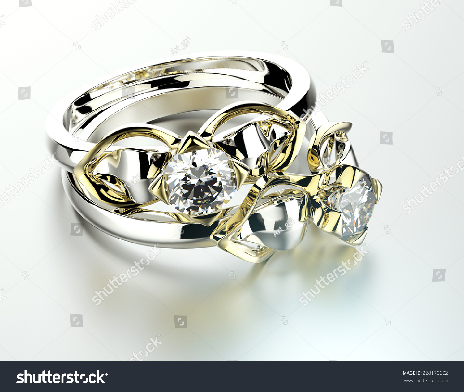 holding stock box photo in businessman ring gigantic diamond a