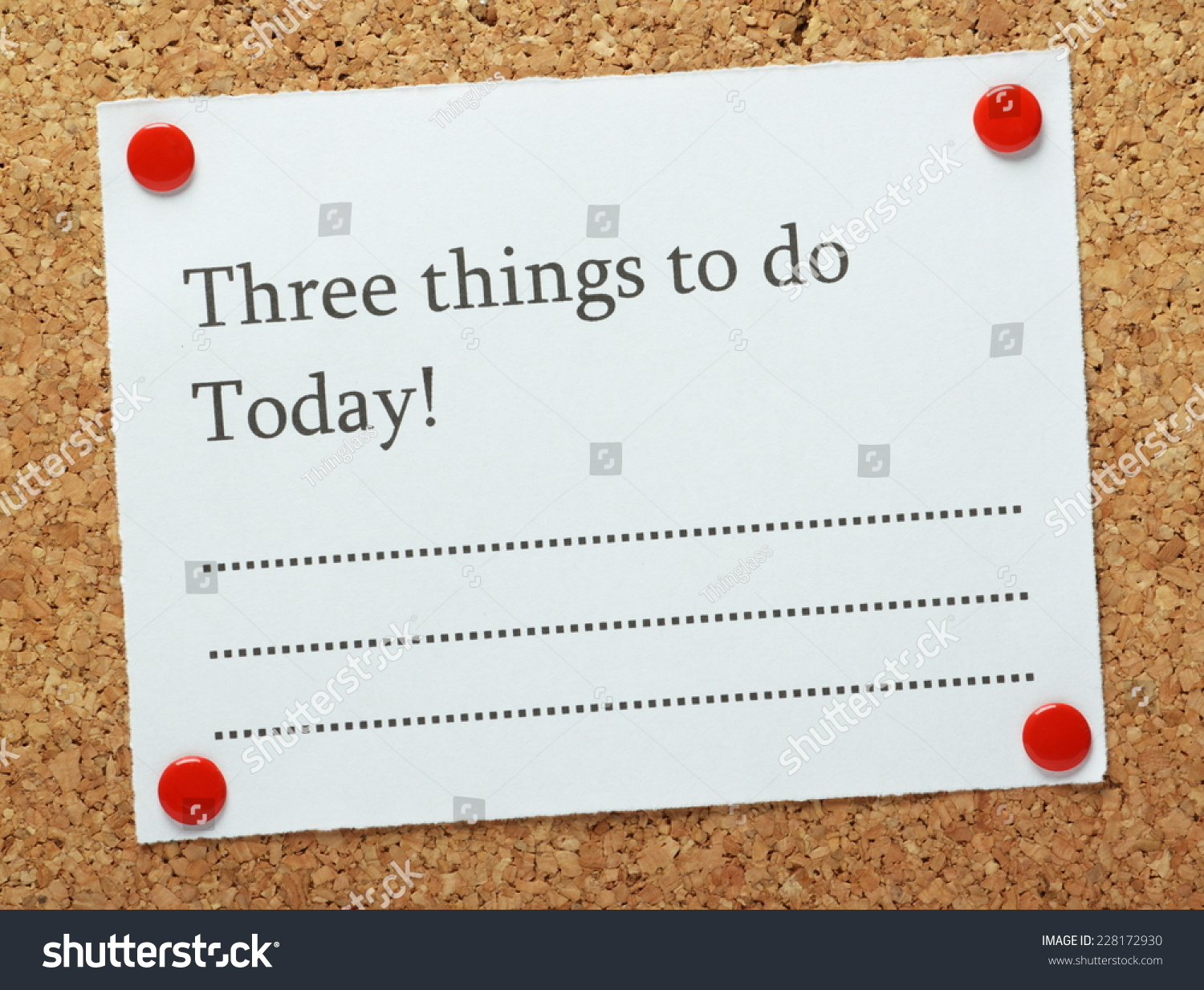 blank list three things do today stock photo edit now 228172930