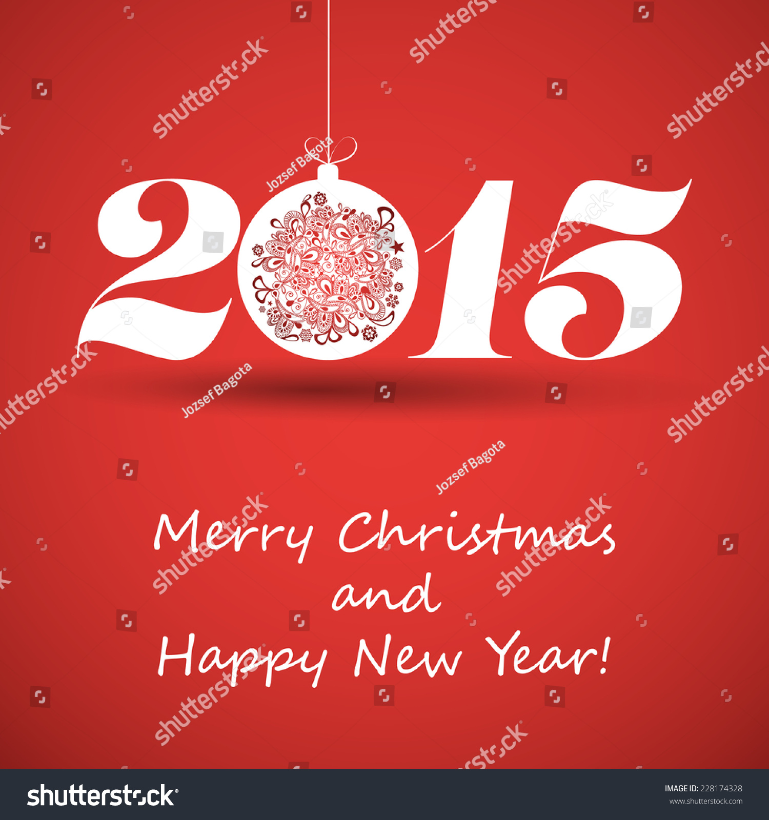 Merry Christmas Happy New Year Greeting Stock Vector Hd Royalty