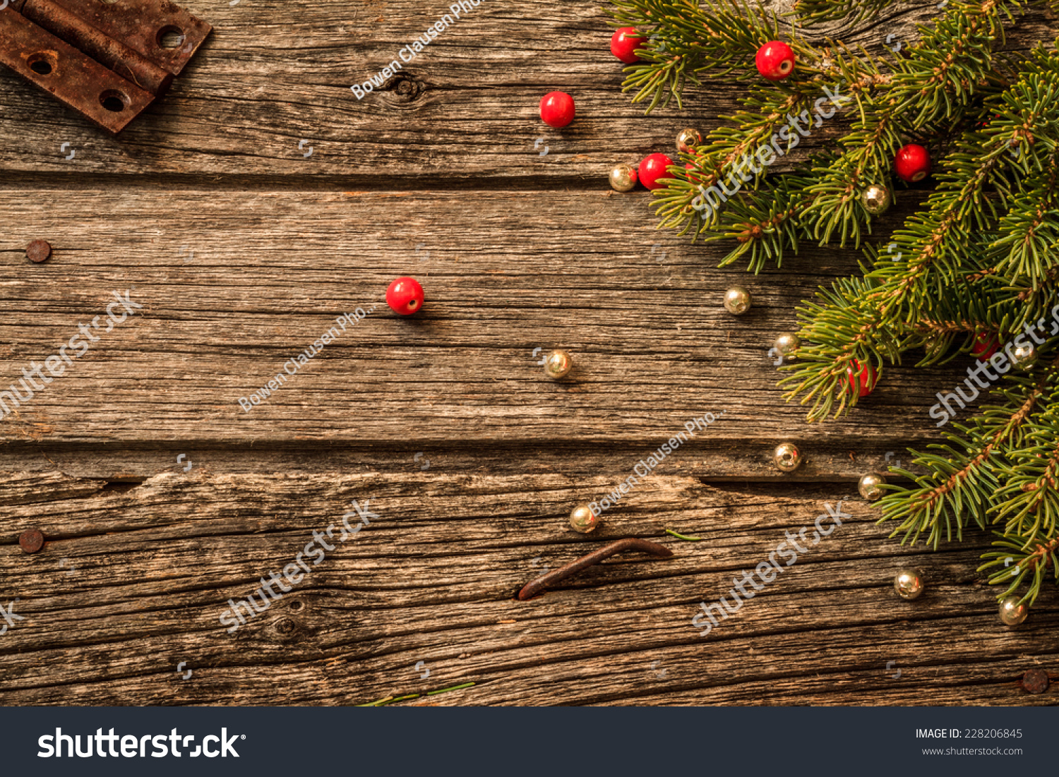 Rustic Christmas Background Aged Barn Wood Stockfoto (Lizenzfrei ...