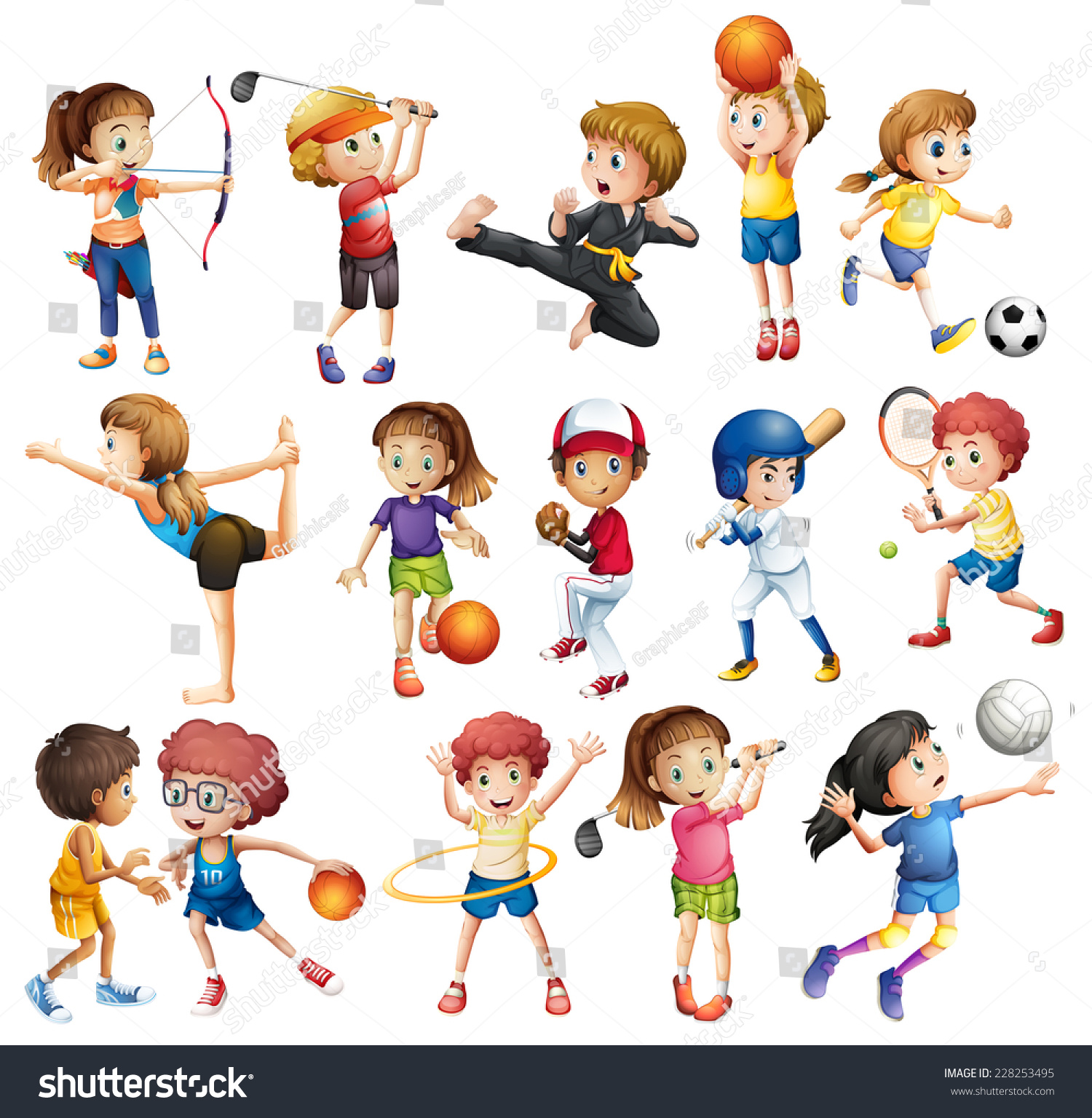 Gallery For gt Cartoon Kid Playing Sports