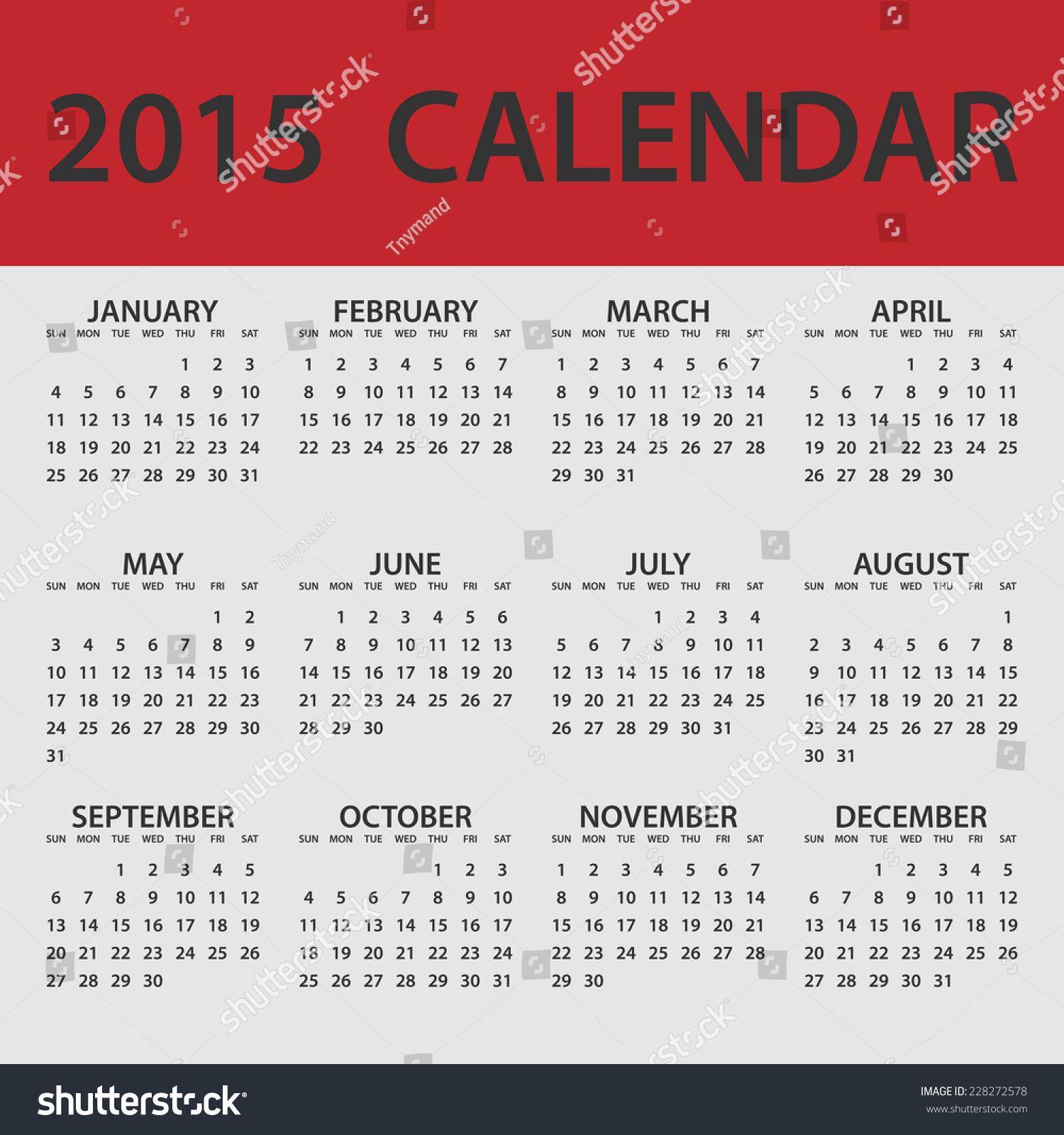 whole year calendar