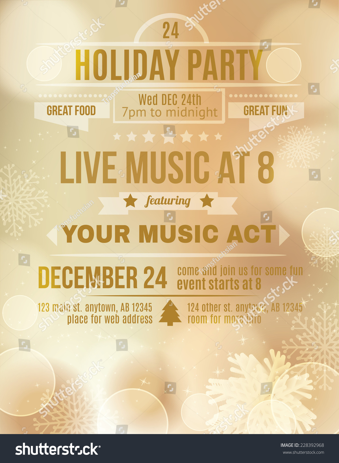 holiday party flyers