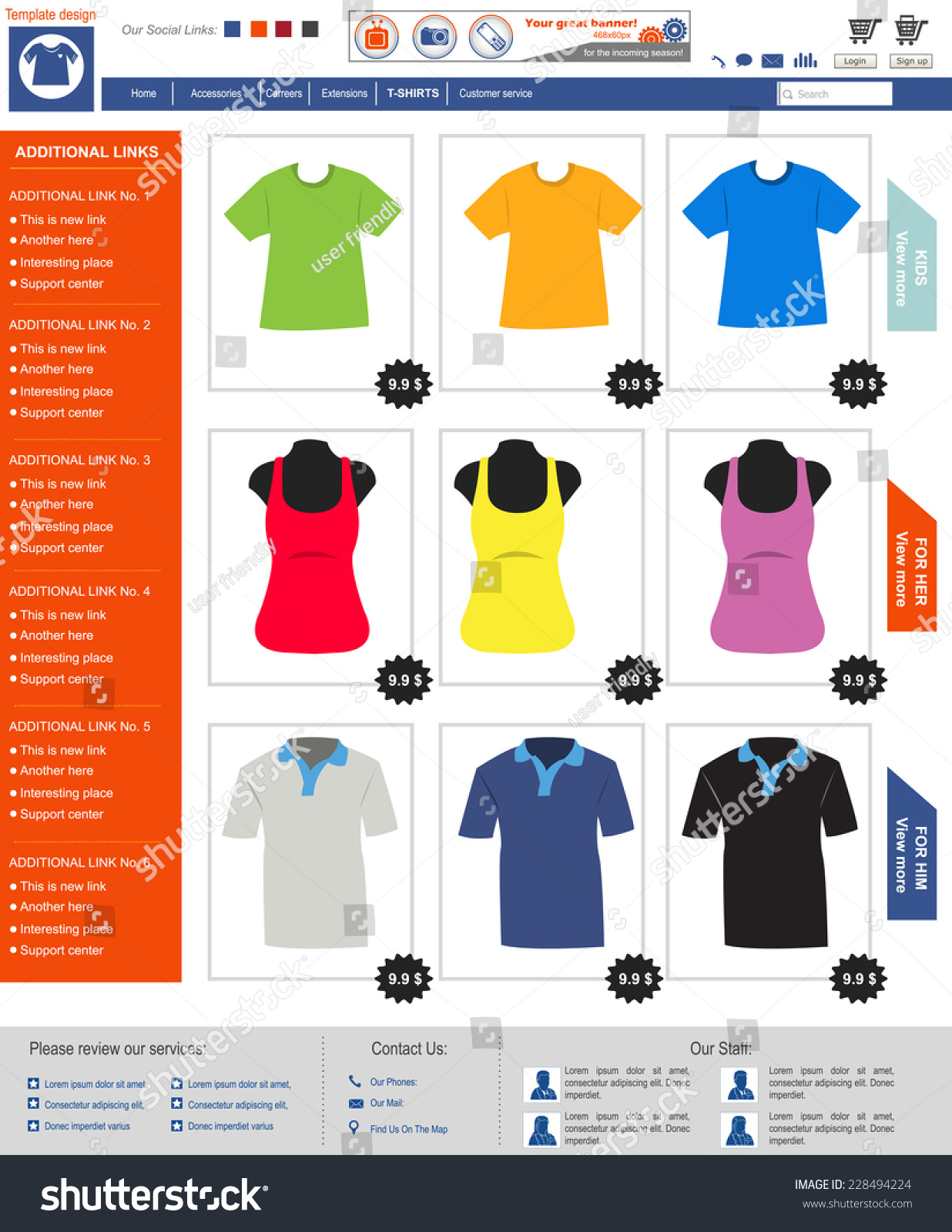 Design t shirt online template - Website Template Design Along With Icons And Images T Shirt Online Shop