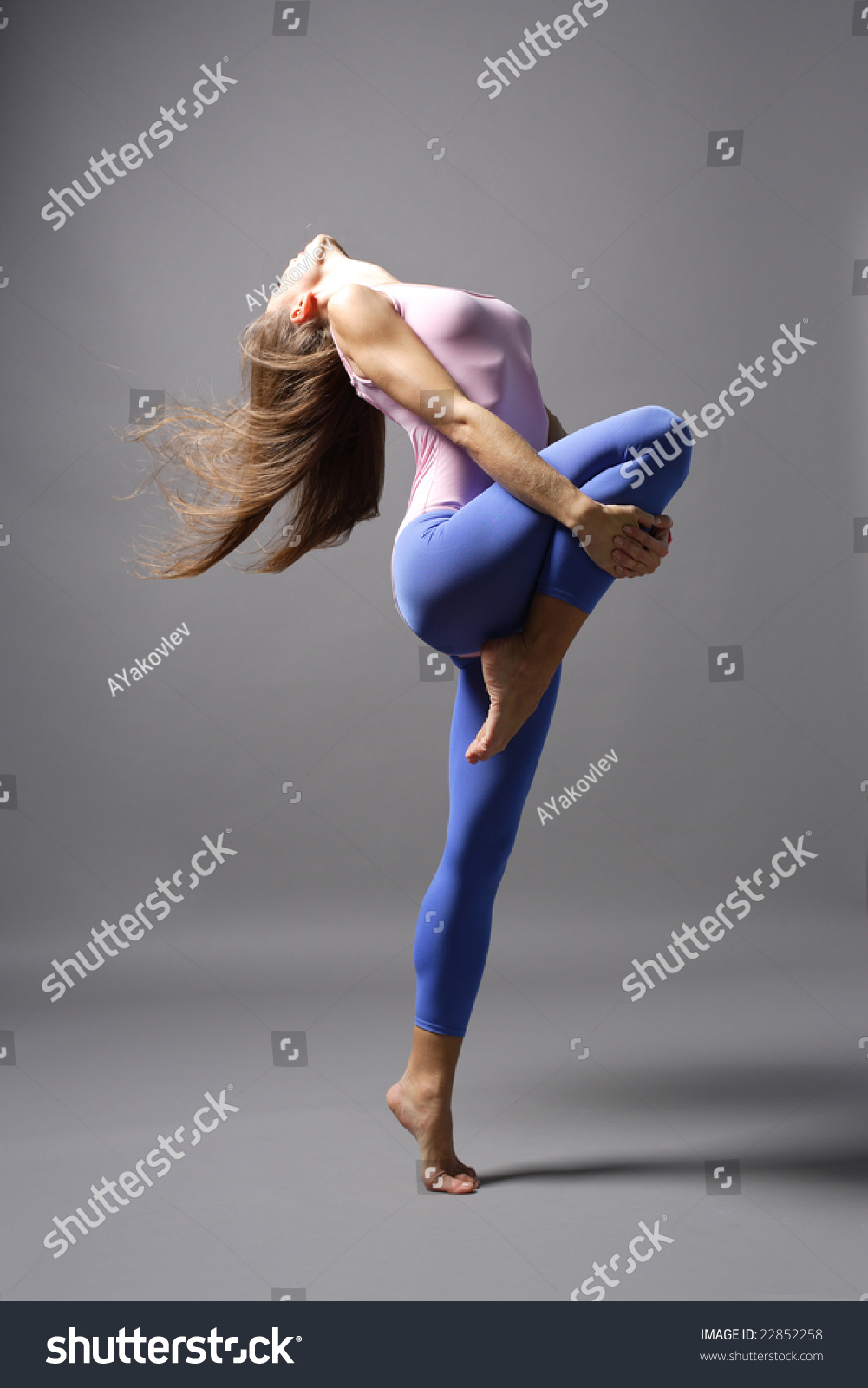 Stylish Young Modern Style Dancer Posing Stock Photo ...