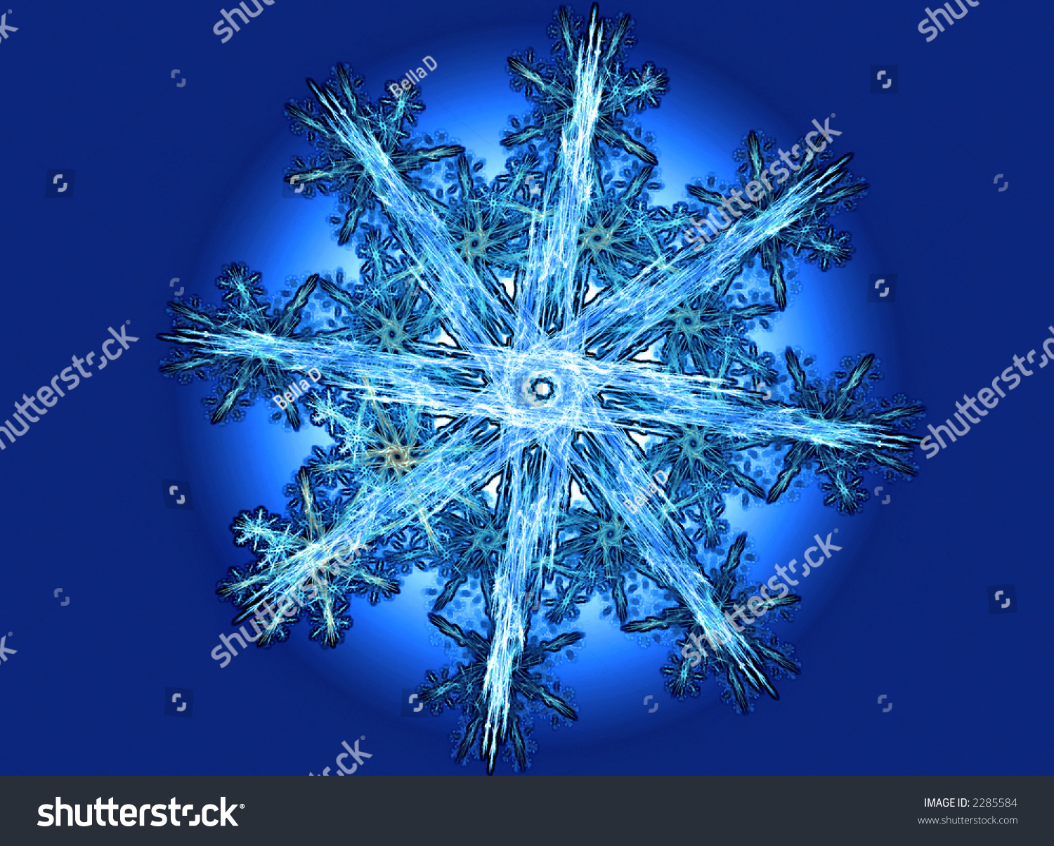 highly detailed snowflake texture stock illustration 2285584