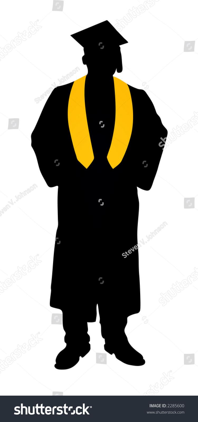 Graduate Silhouette Stock Vector 2285600 Shutterstock