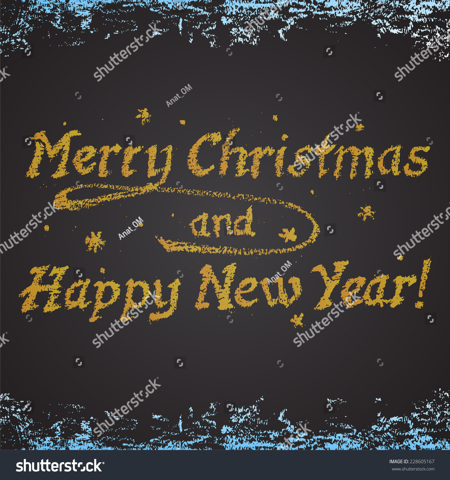 chalk painted colorful new year card happy new year theme