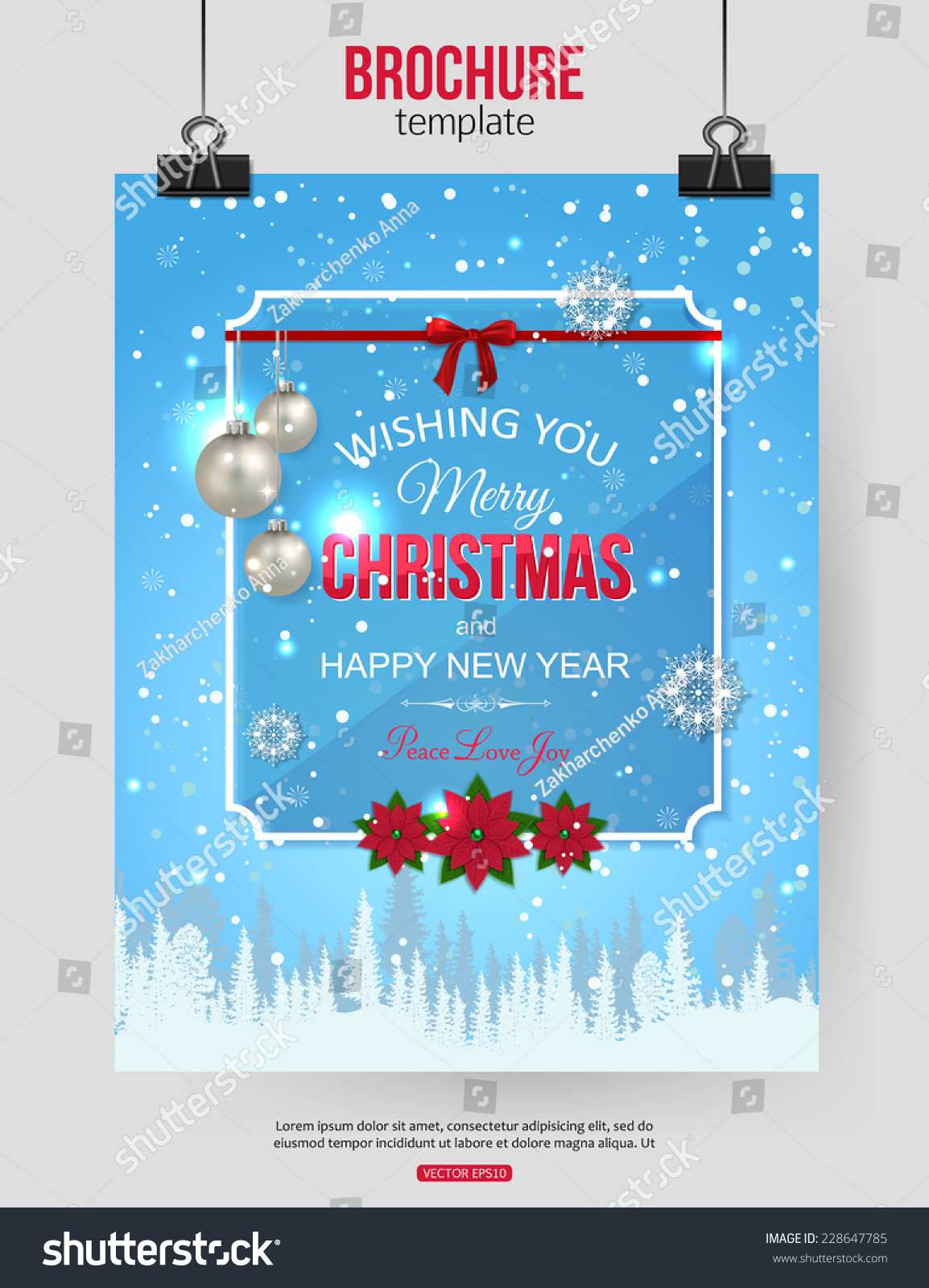 christmas brochure template abstract typographical flyer design save to a lightbox