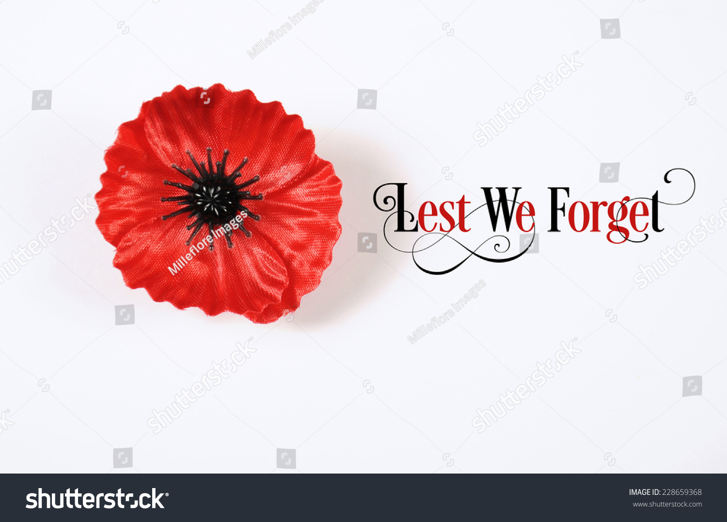 Lest We Forget Red Flanders Poppy Stock Photo Edit Now 228659368