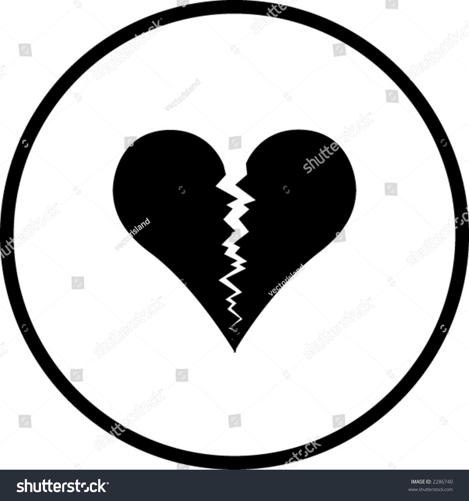 Broken Heart Symbol Stock Vector Royalty Free 2286740 Shutterstock