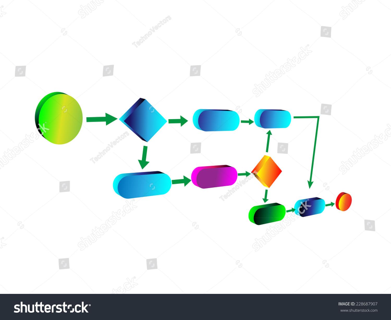 vector illustration business process flow chart stock vector stock vector vector illustration of business process flow - Flowchart For Business Process