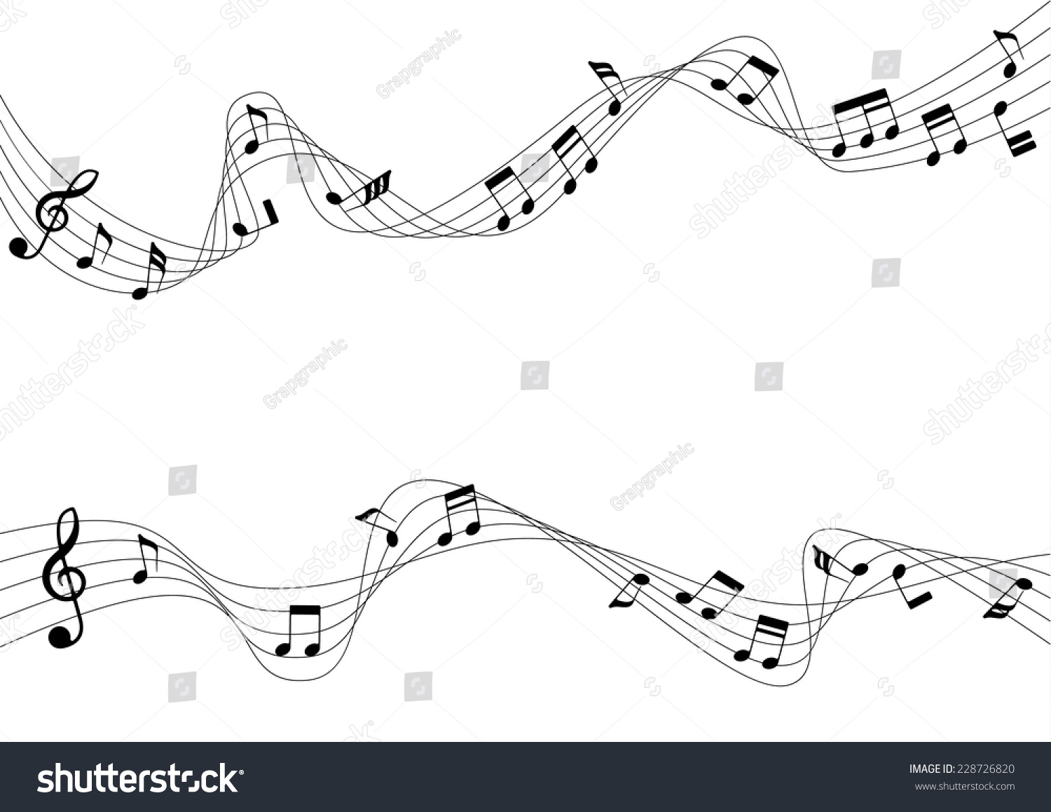 Aflutter musical chords vector illustration stock vector 228726820 aflutter of musical chords a vector illustration hexwebz Image collections