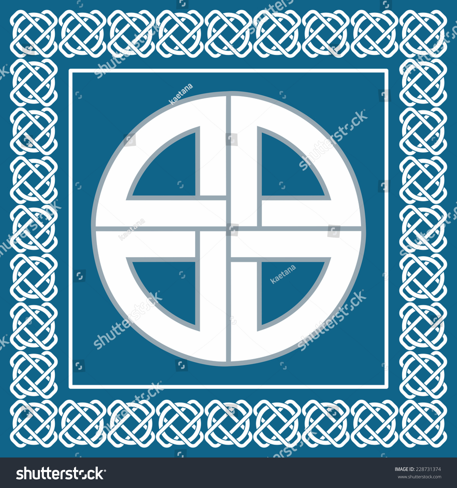 Ancient Celtic Knotsymbol Protection Used By Stock Illustration