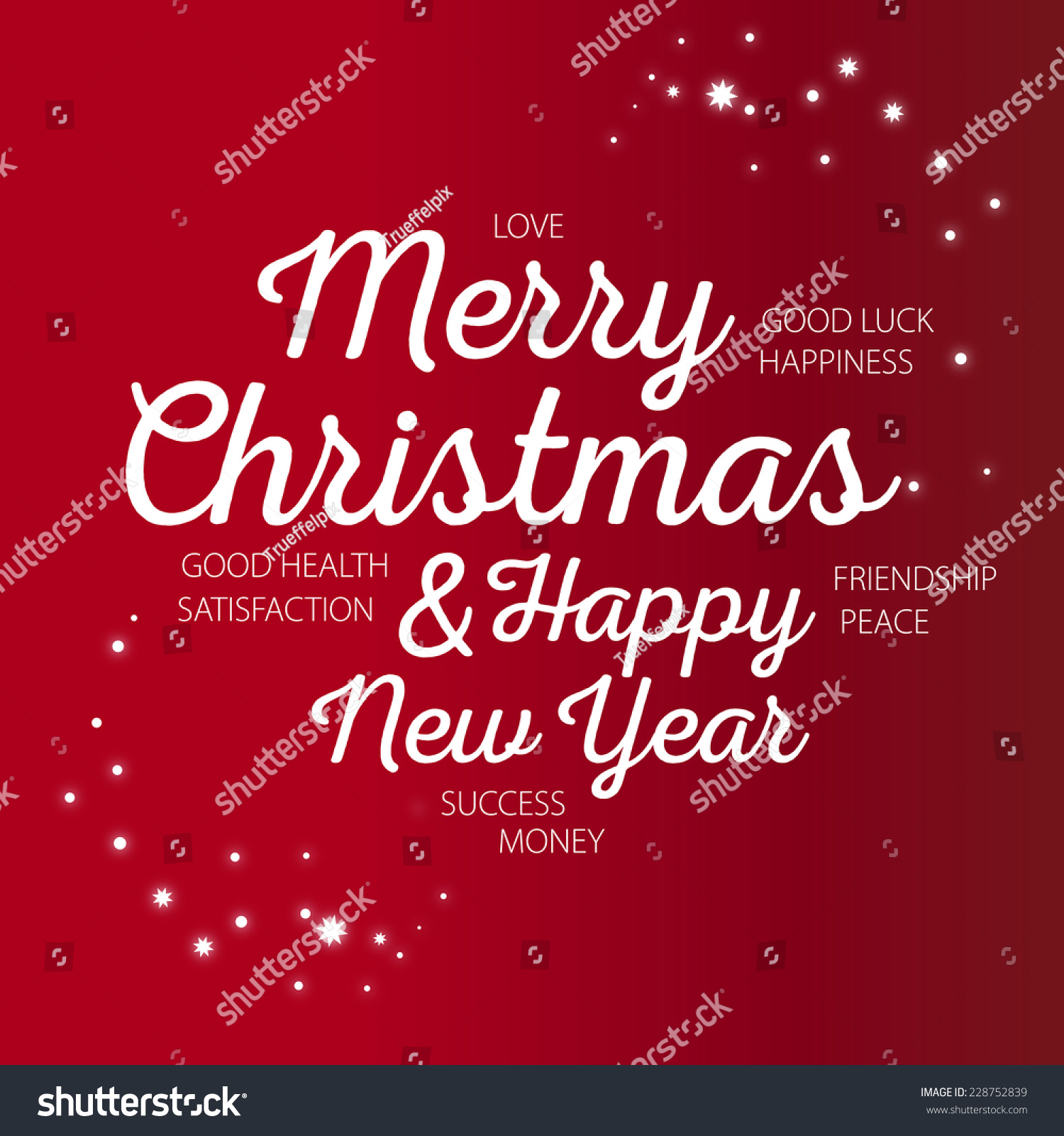 Royalty Free Stock Illustration Of Merry Christmas Happy New Year