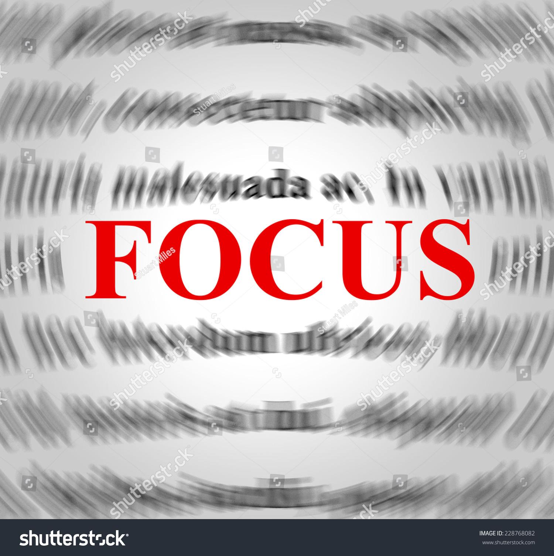 Stock Photo Focus Definition