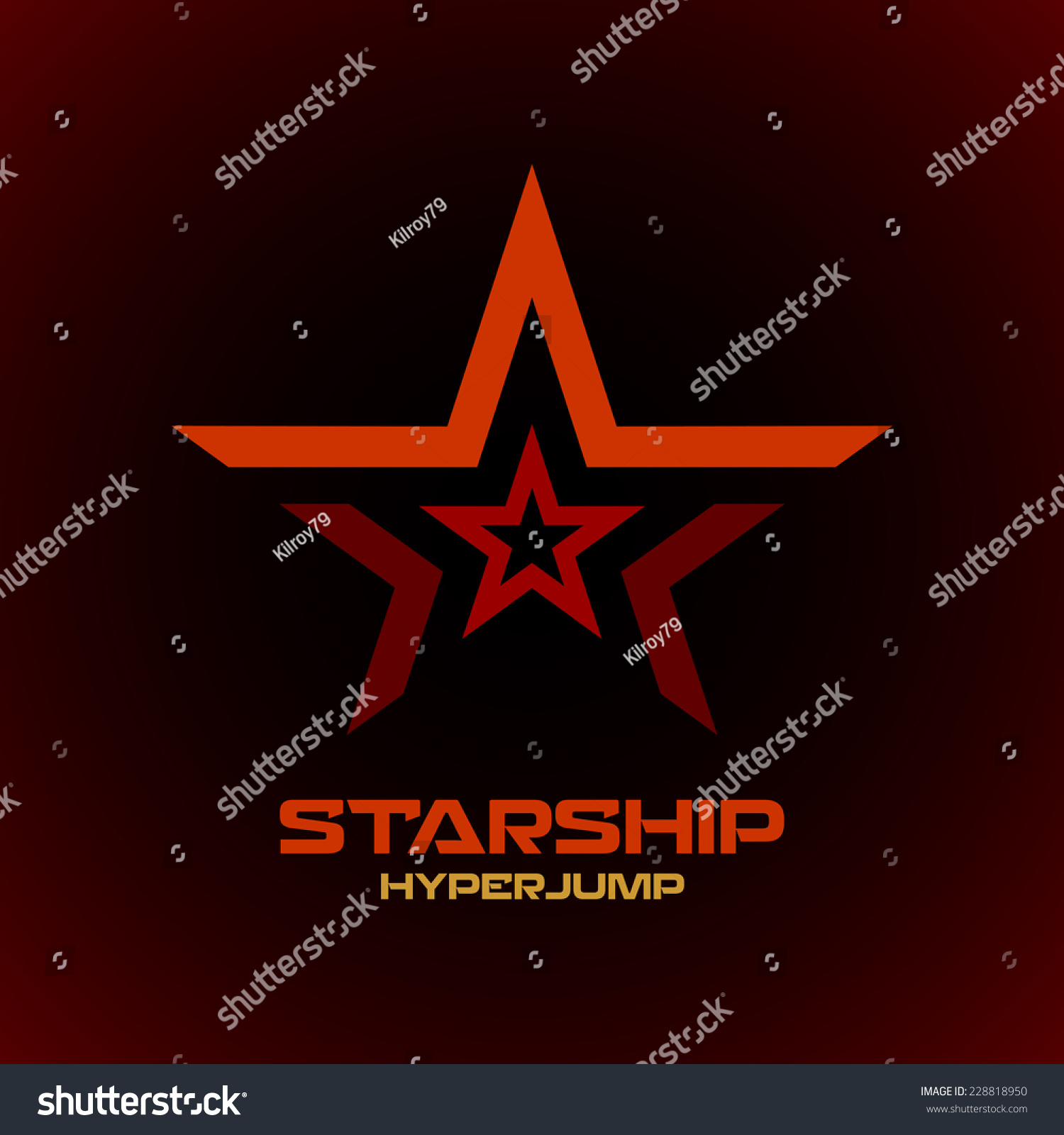 star logo template space technical military theme stock vector illustration 228818950. Black Bedroom Furniture Sets. Home Design Ideas