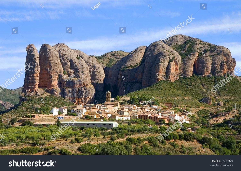 Outdoor House Los Mallos De Aguero Huesca Aragon Stock Photo 2288929