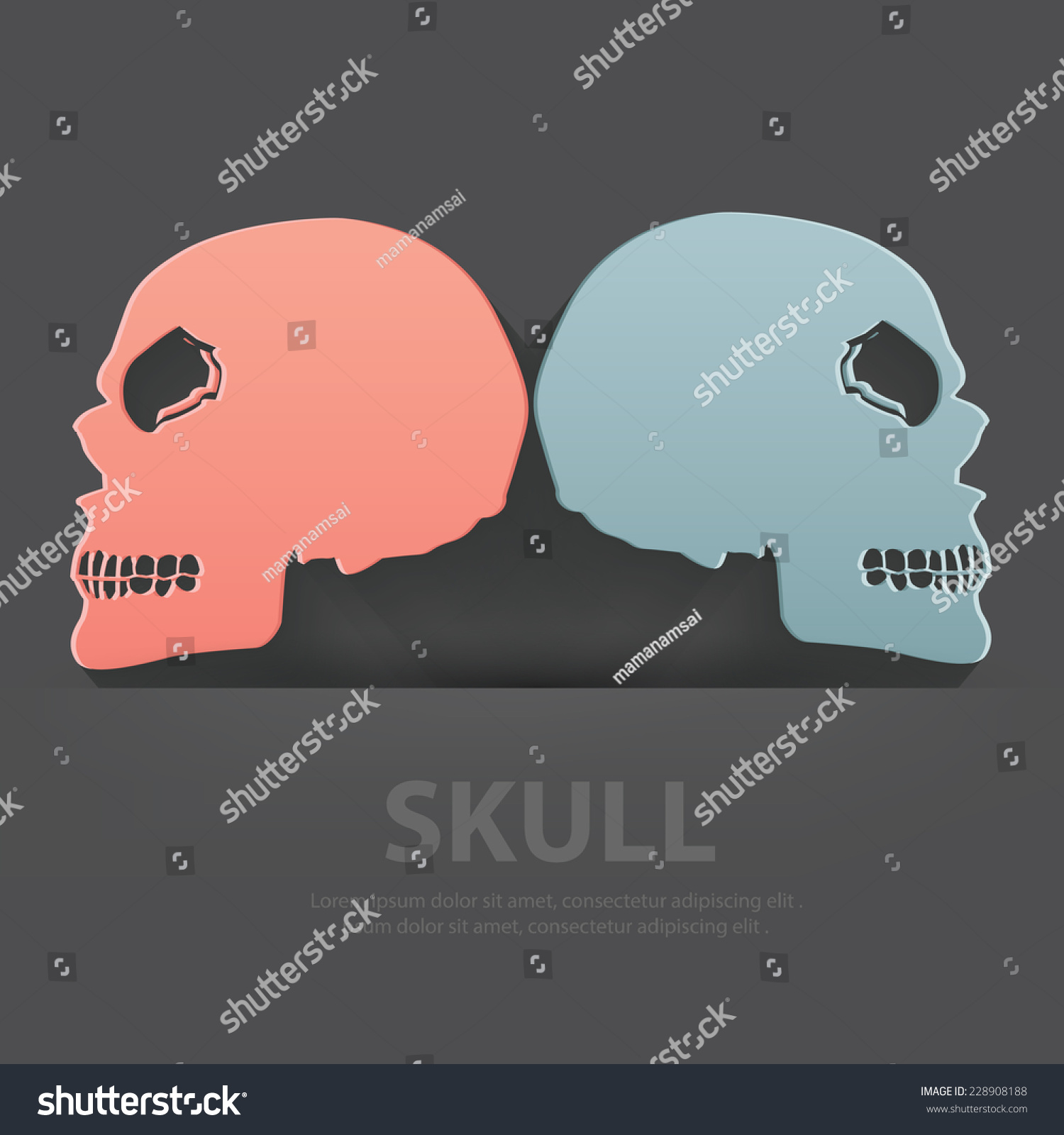 Skull symbolblank your textclean vector stock vector 228908188 skull symbolblank for your textclean vector buycottarizona Images