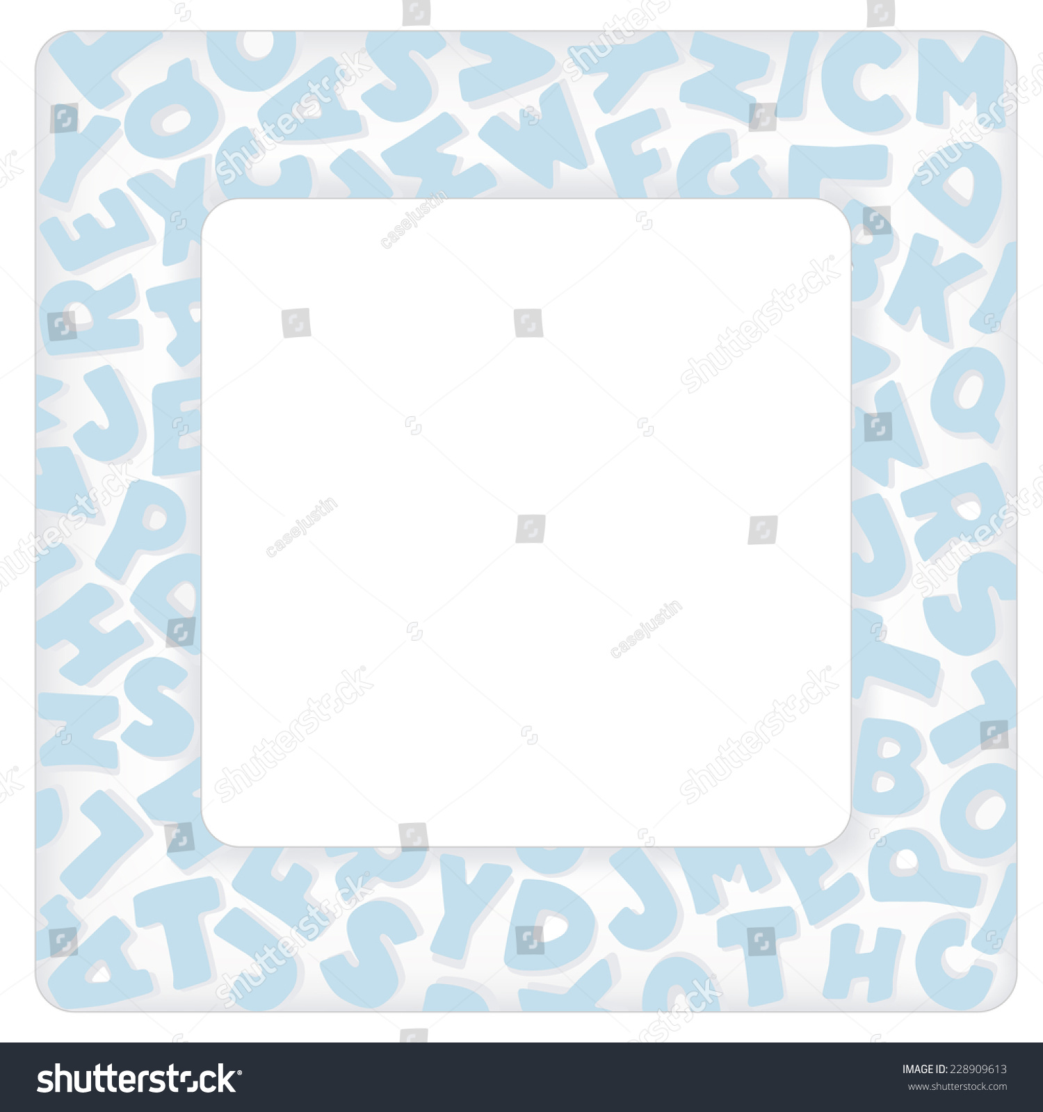 Alphabet frame square pastel blue letter stock vector 228909613 alphabet frame square pastel blue letter border with copy space for baby books albums solutioingenieria Gallery